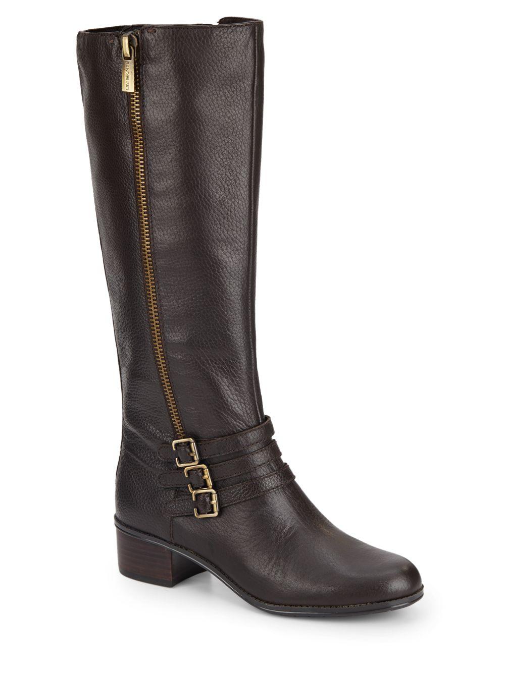 bandolino carsononia leather boots in brown lyst