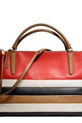 Coach The Large Borough Bag Bar Stripe - Lyst