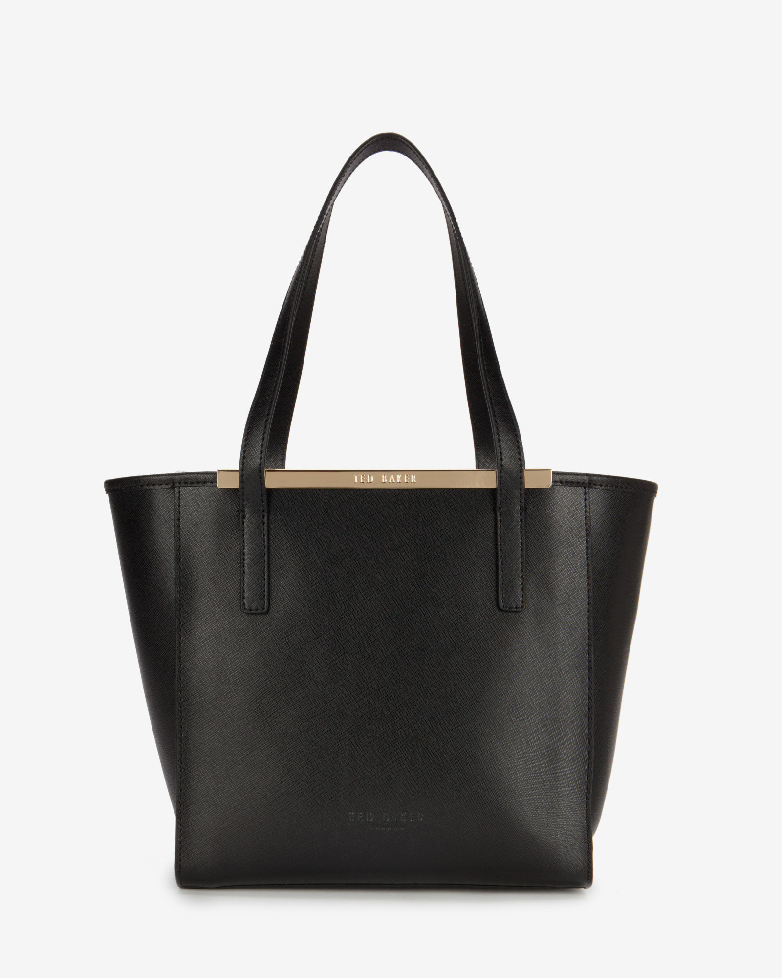 ted baker josie crosshatch leather shopper bag in black lyst. Black Bedroom Furniture Sets. Home Design Ideas