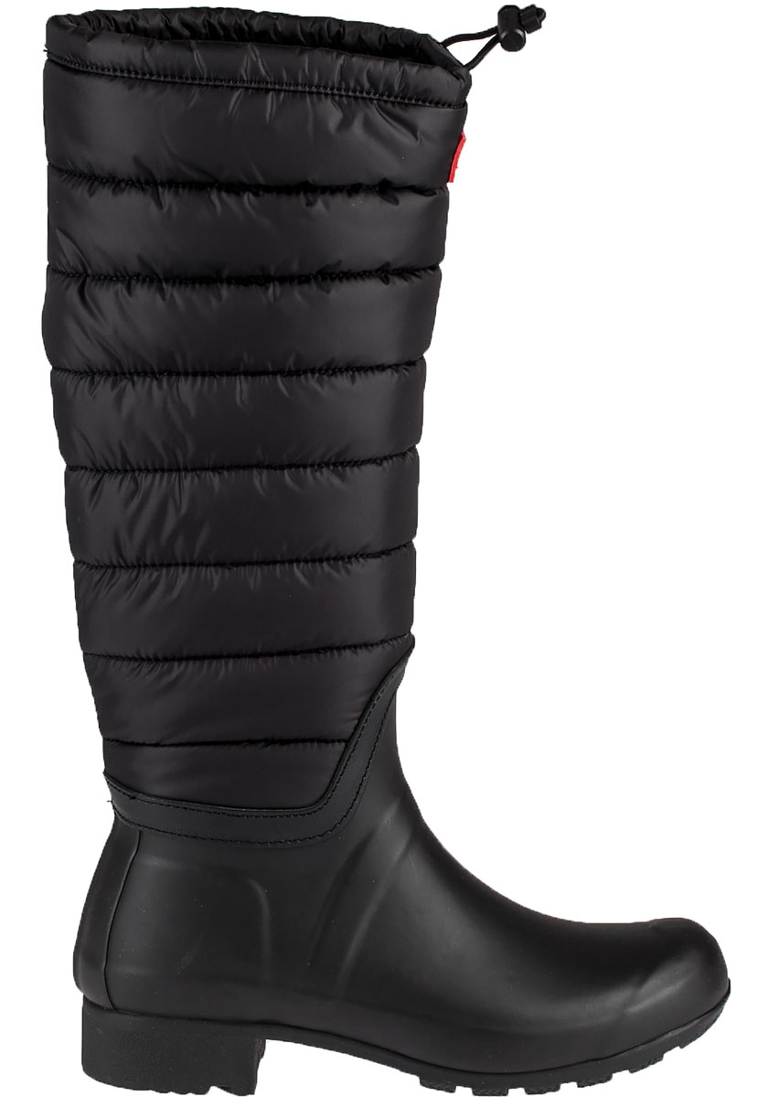 Hunter Original Tall Quilted Rainboots In Black Lyst