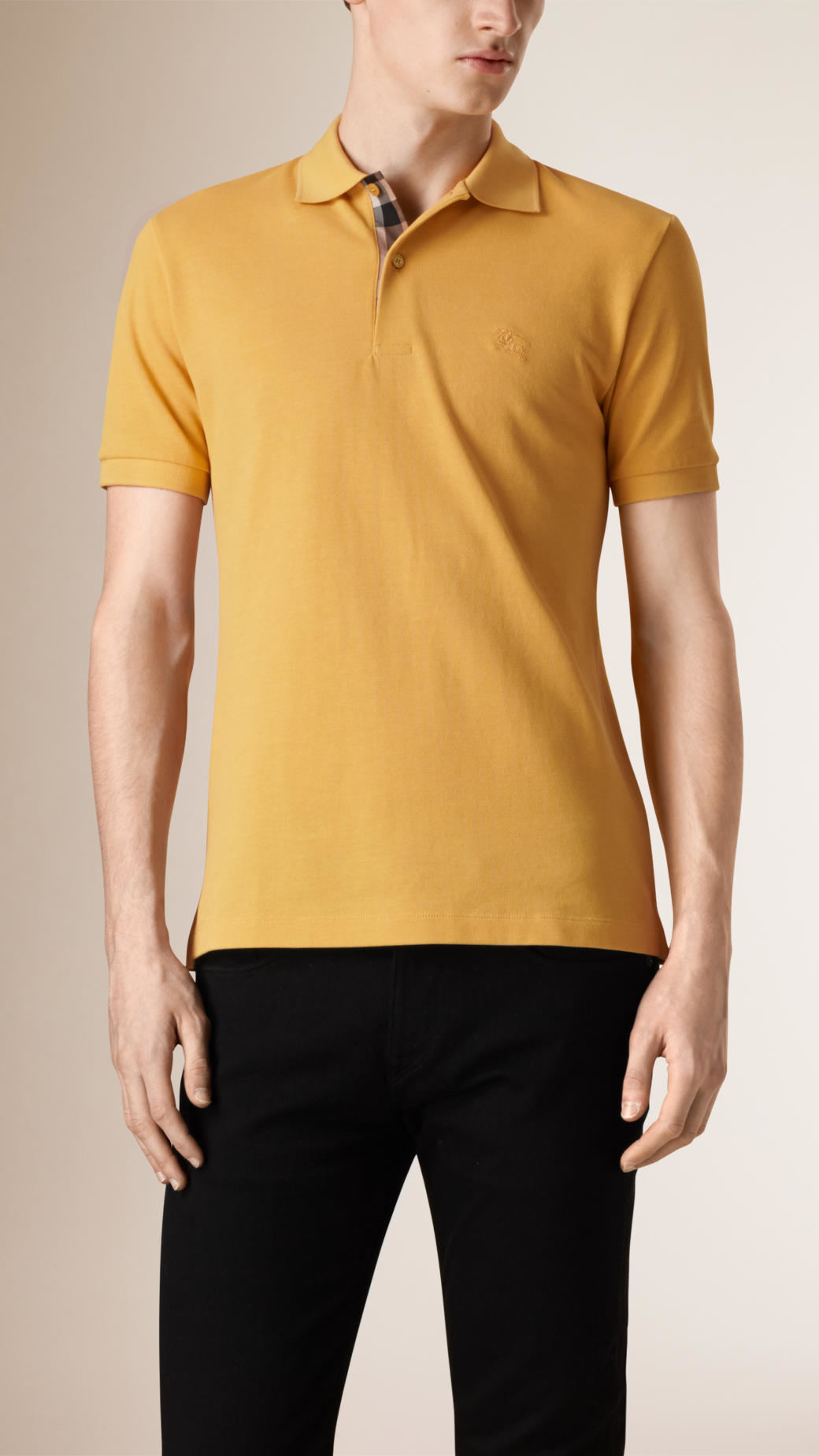 burberry polo outlet 9tp6  yellow burberry polo