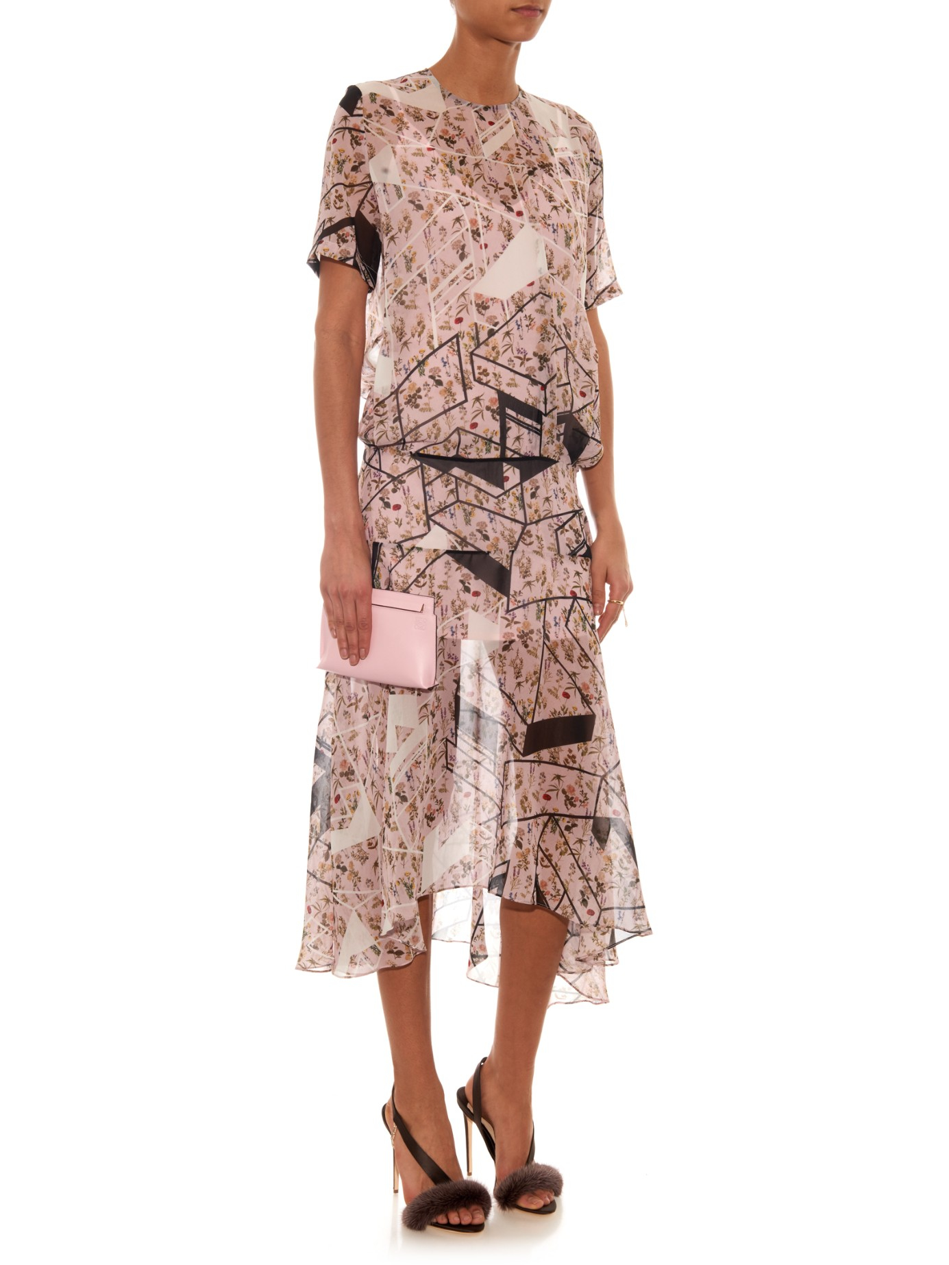 Lyst Olgana Paris L Amazone Mink Fur Sandal In Brown