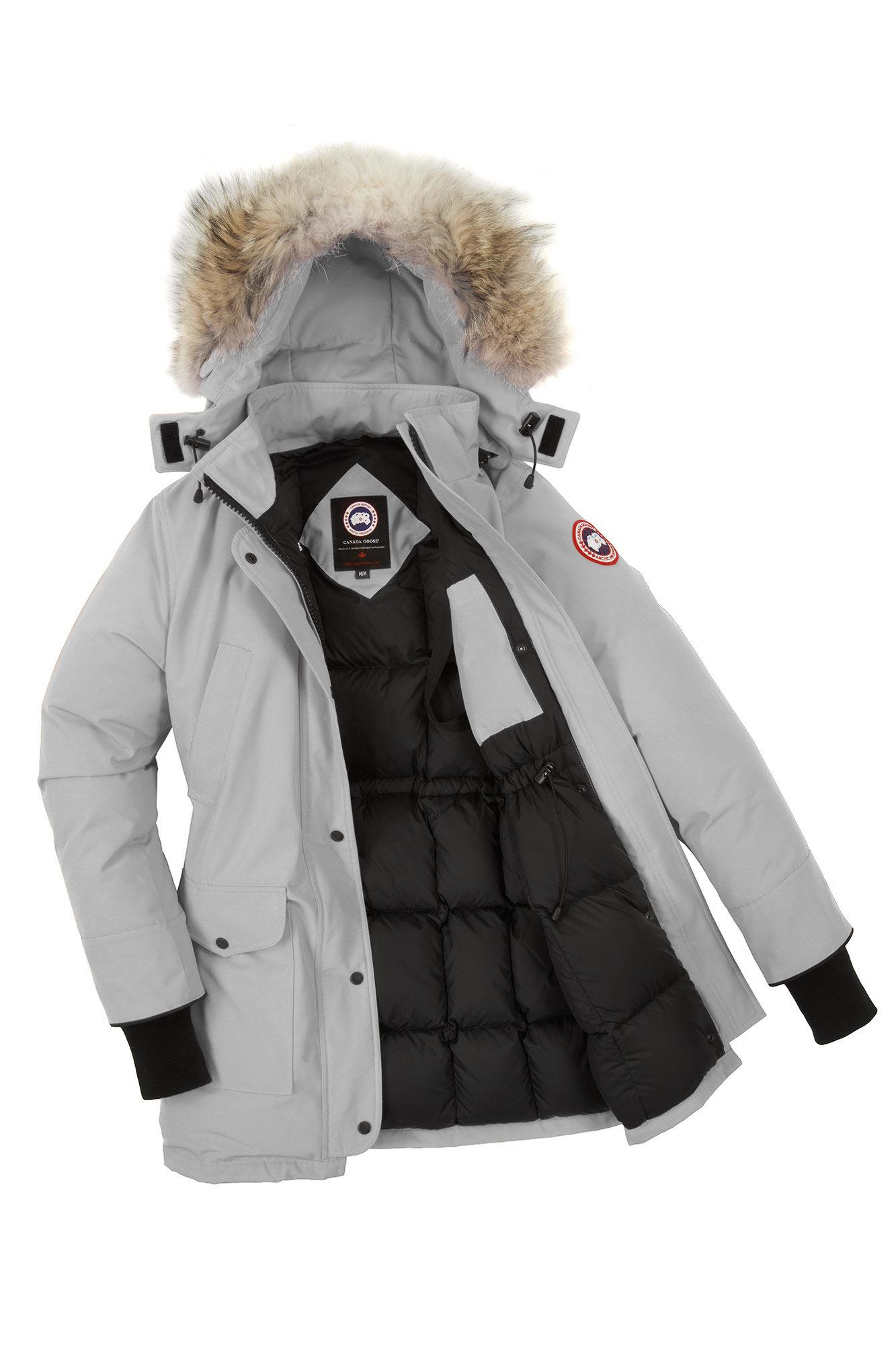 Canada Goose' Trillium Women's Silver Birch Parka Fur Trim Coat