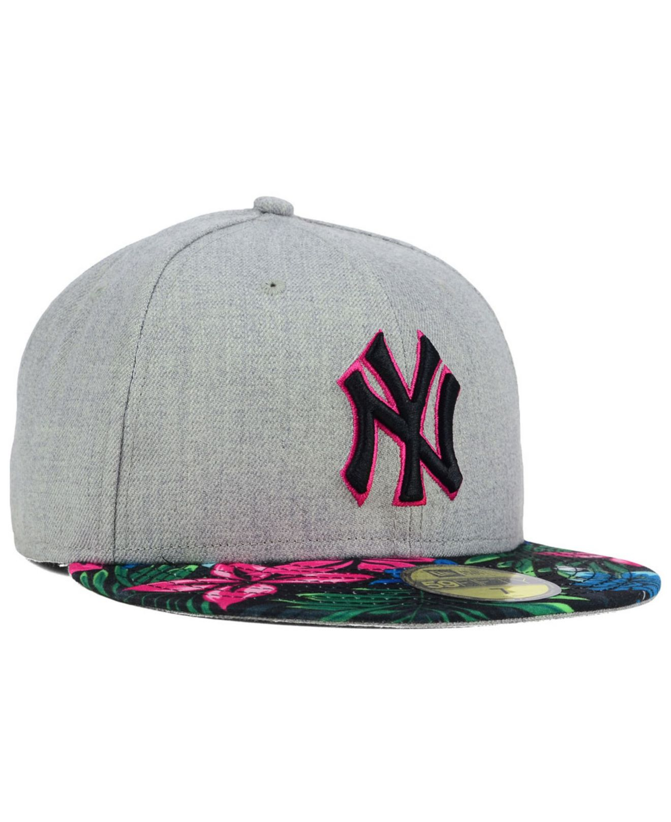 d7057dcbd4ac6 KTZ New York Yankees Floral Mashup 59fifty Cap in Gray for Men - Lyst