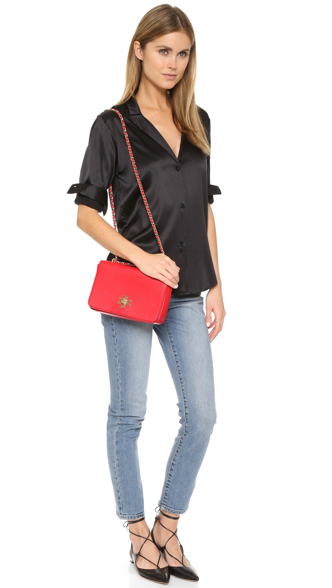 Chloe Leather Vermilion Shoulder Bag Chloe Knockoff