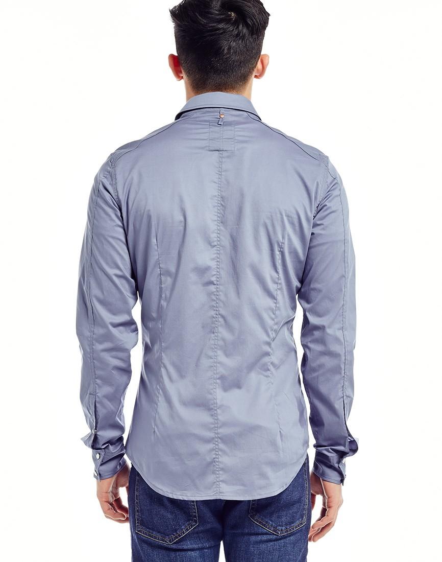 lyst g star raw g star landoh shirt in blue for men. Black Bedroom Furniture Sets. Home Design Ideas
