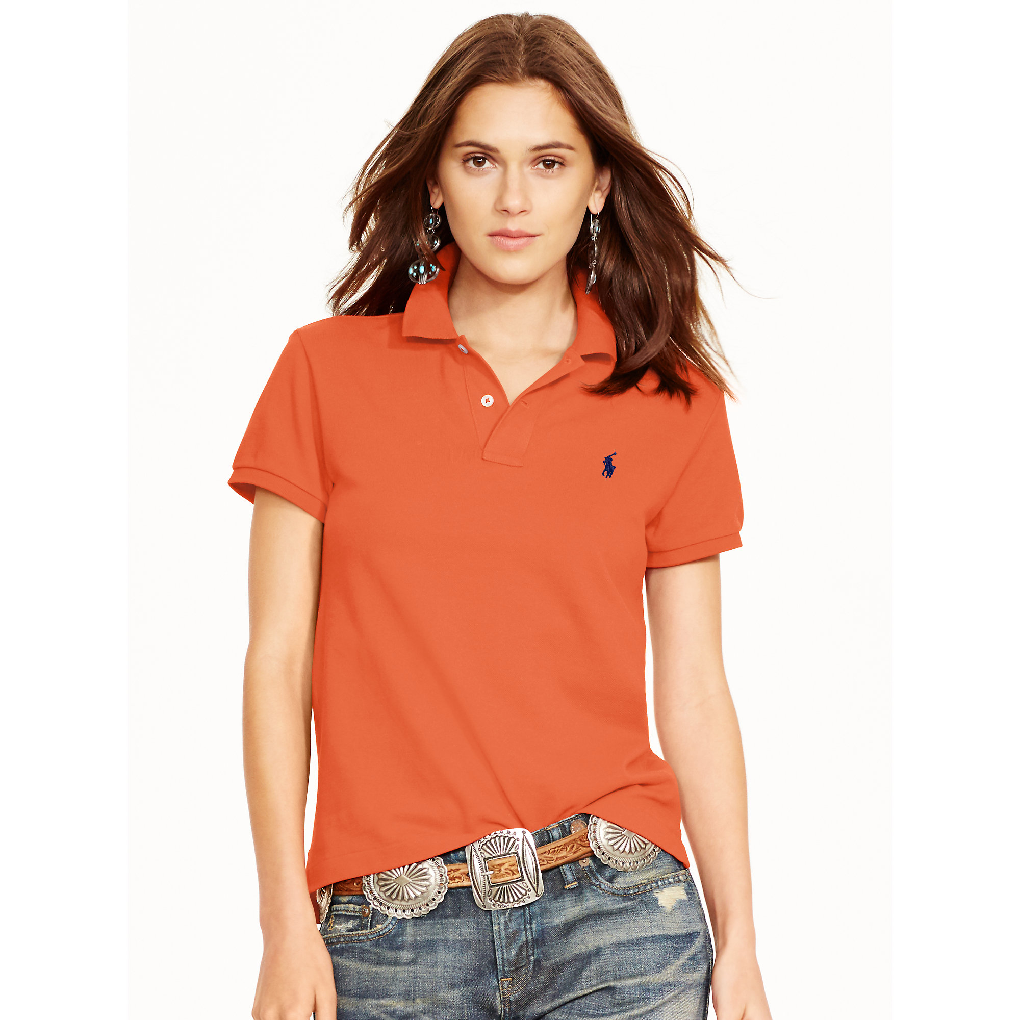 Lyst - Polo Ralph Lauren Classic-fit Polo Shirt in Red 78cfded81b