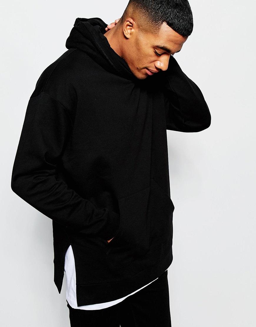 Longline Hoodie In Black - Black Asos Finishline Sale Online Exclusive Genuine Online ItgPA4Pczt