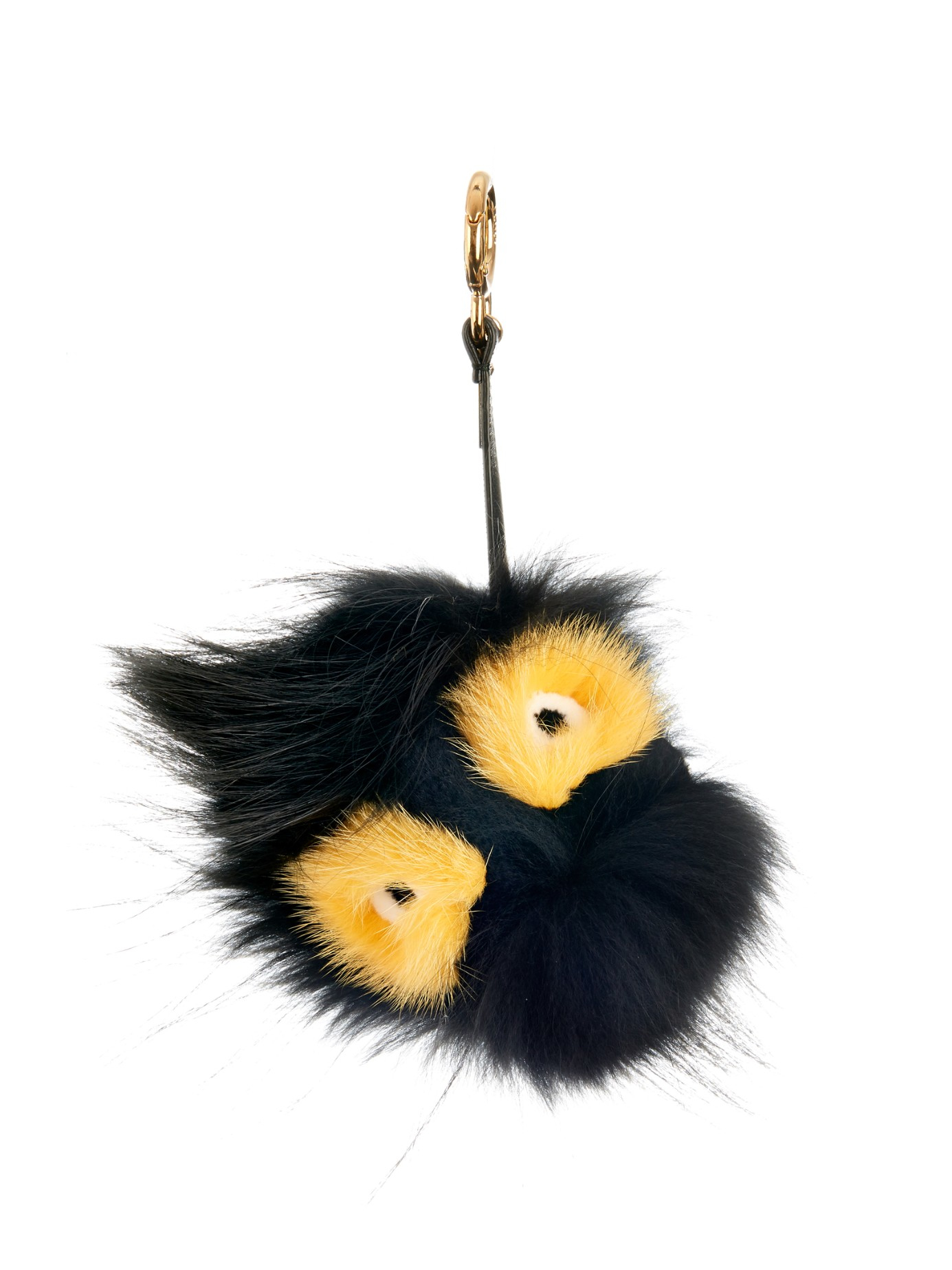 ae7c1d89fdaf Lyst - Fendi Archy Fox And Mink-Fur Bag Charm in Black