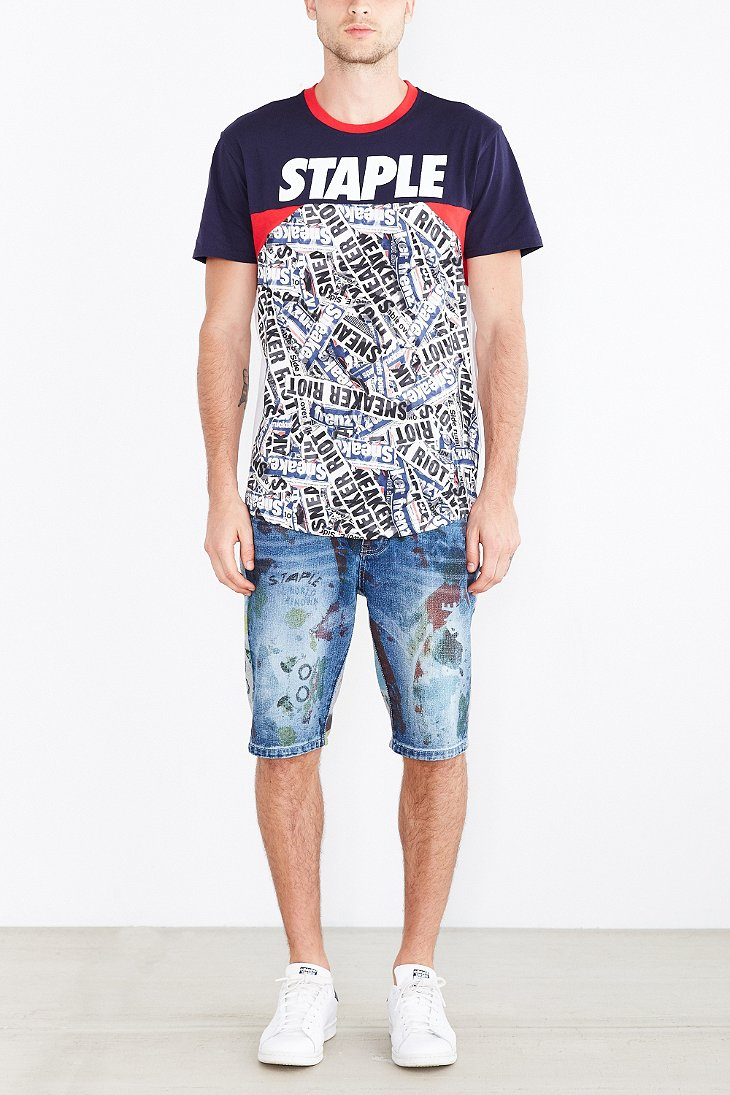 staple the riot sport jersey in blue for lyst