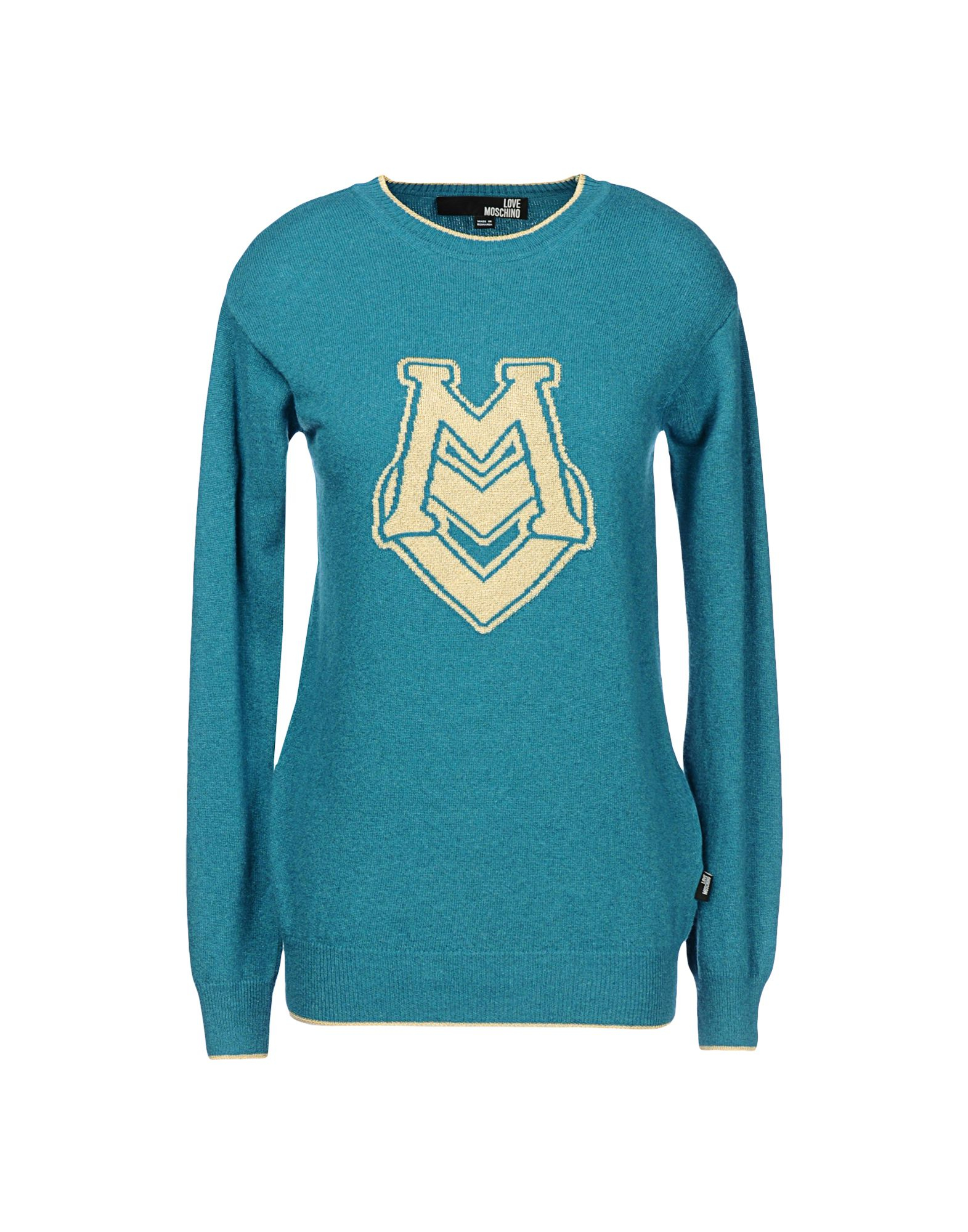love moschino long sleeve sweater in blue lyst. Black Bedroom Furniture Sets. Home Design Ideas