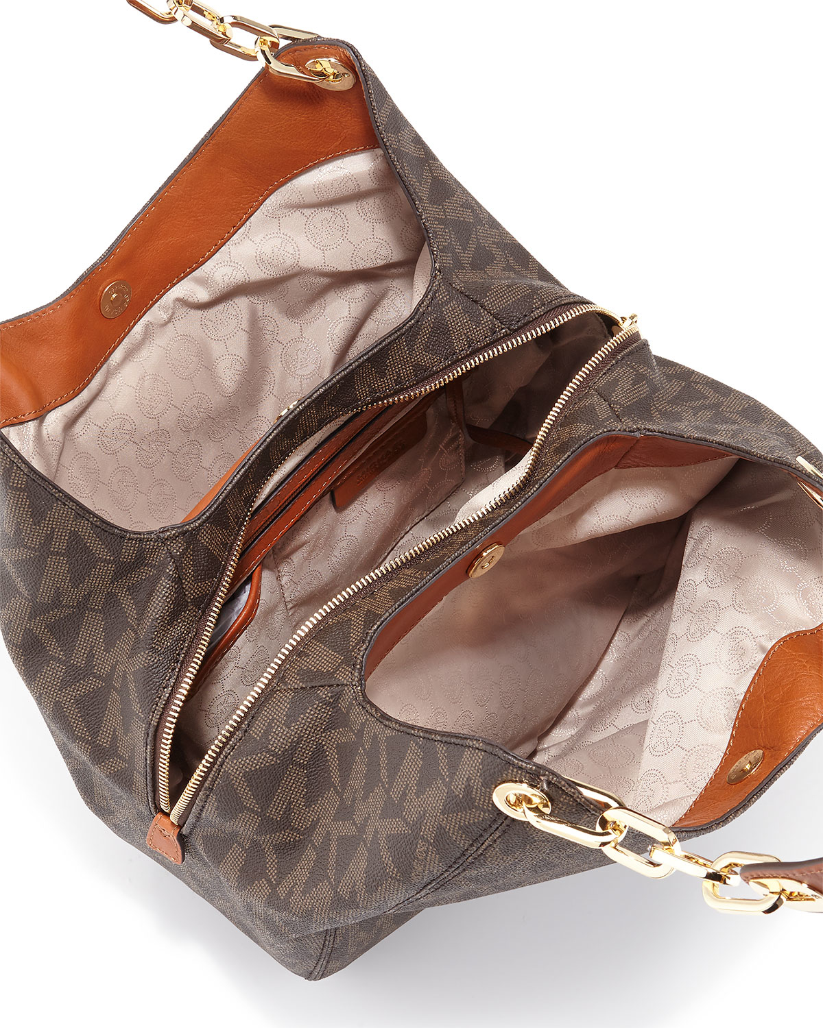 100ef34b022f ... large shoulder tote in signature print 969d8 6441e; spain gallery.  previously sold at neiman marcus womens michael by michael kors fulton  d89cf 8fd16