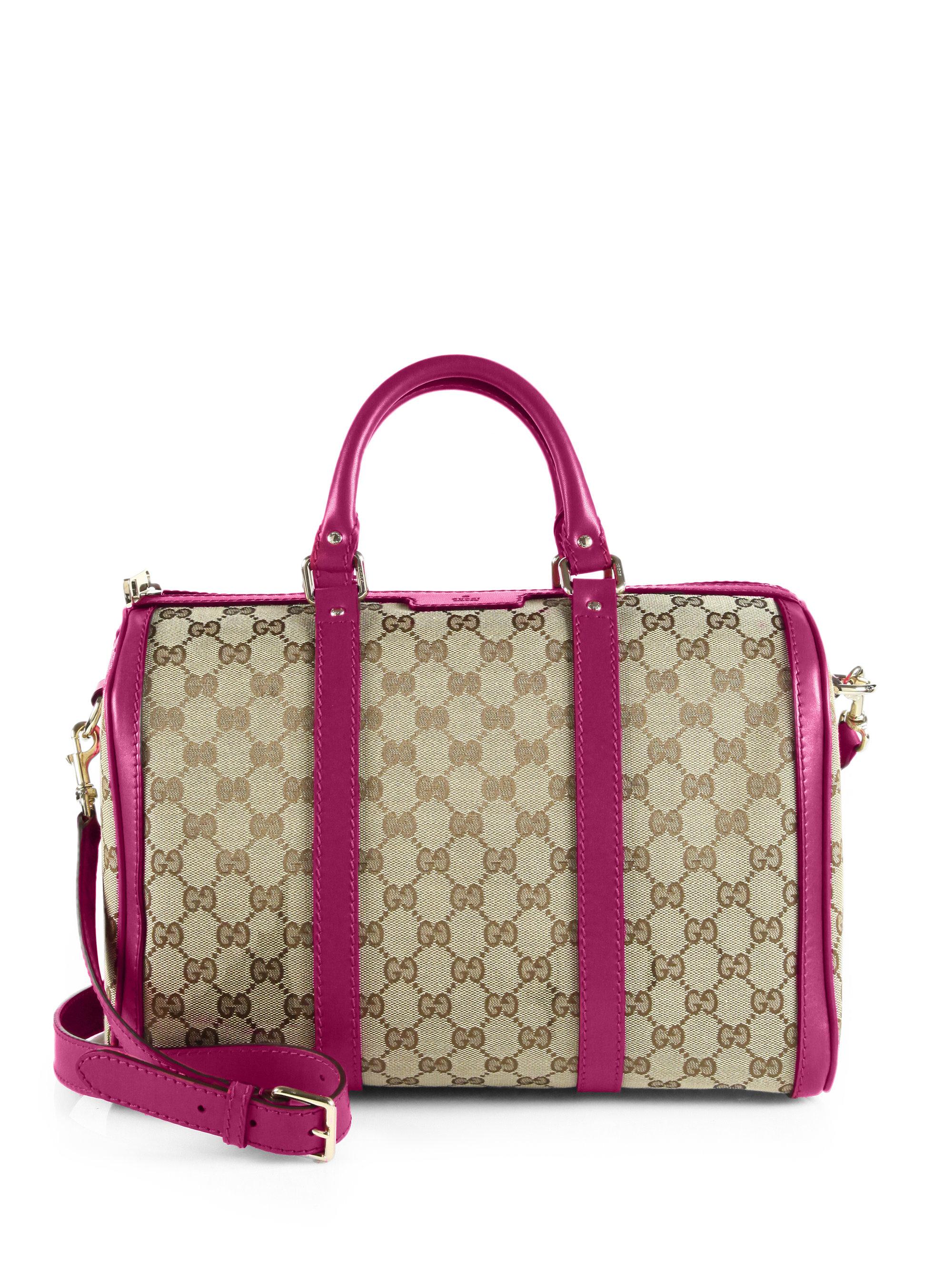 Lyst - Gucci Vintage Web Original GG Canvas Boston Bag in Pink