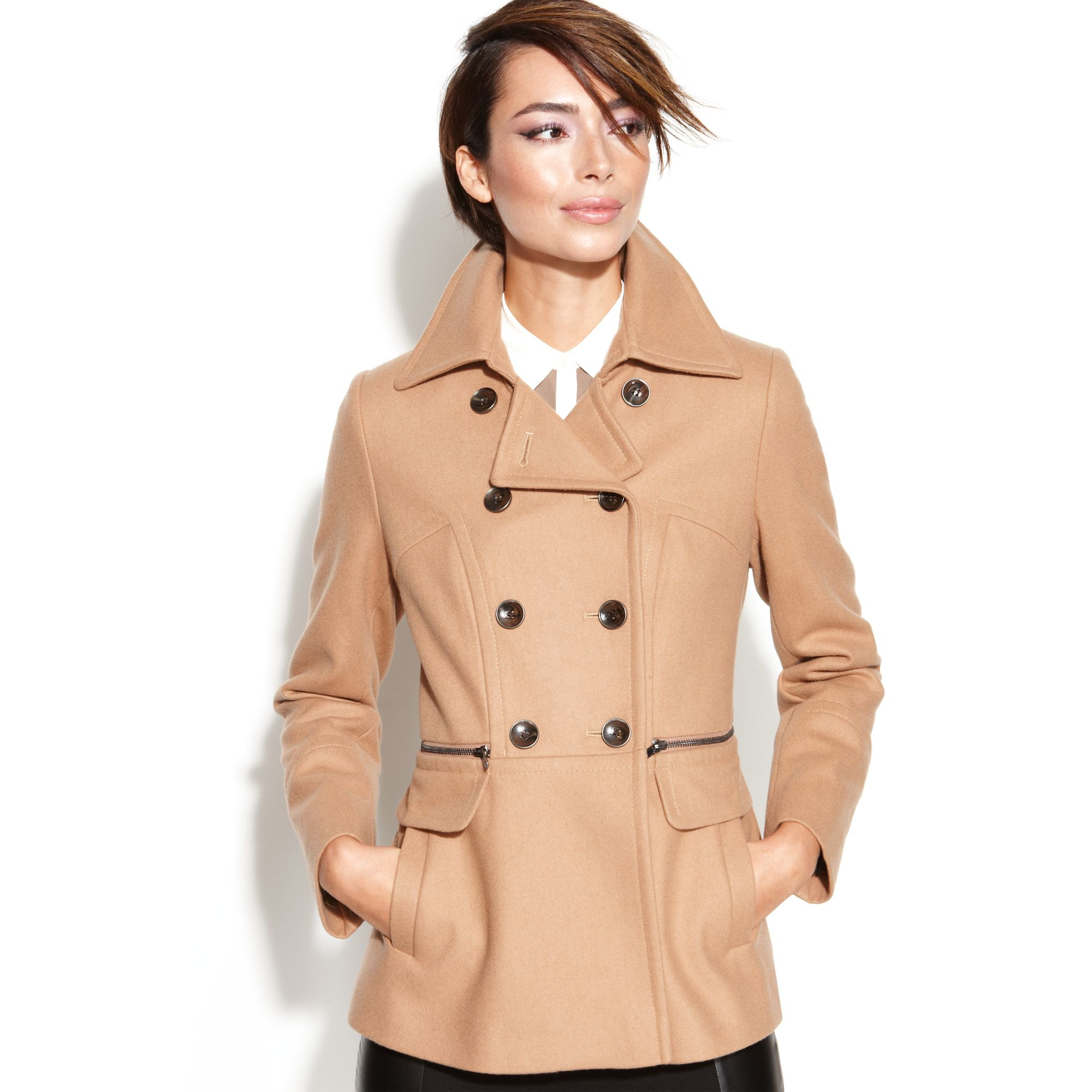 Collection Beige Pea Coat Womens Pictures - Reikian