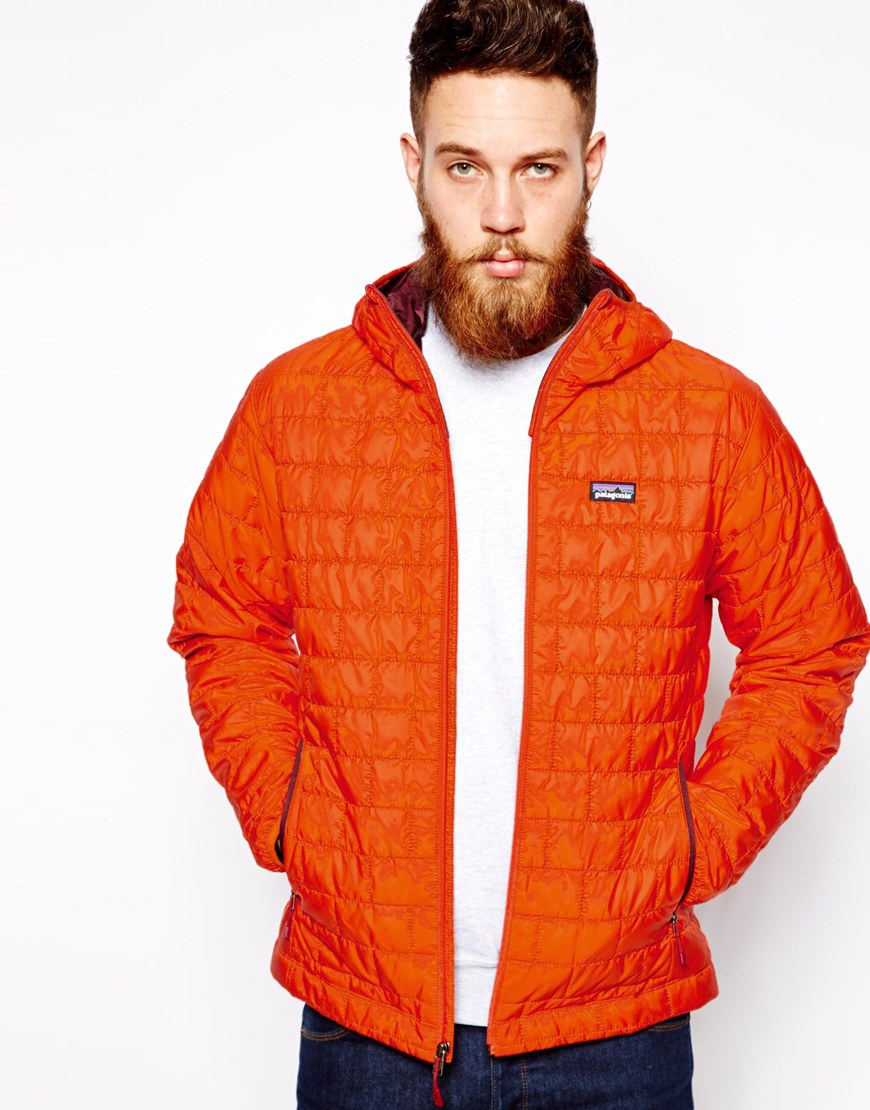 Patagonia Nano Puff Hoody In Orange For Men Lyst