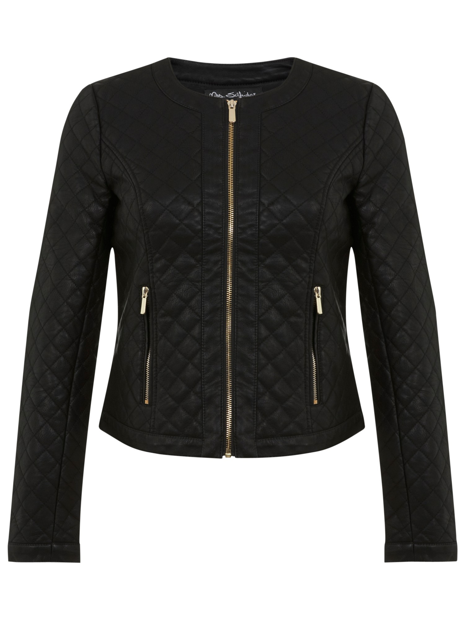 laura jacket clothing faux black res quilt outerwear en coat sleeve ellabee quilted leather hi