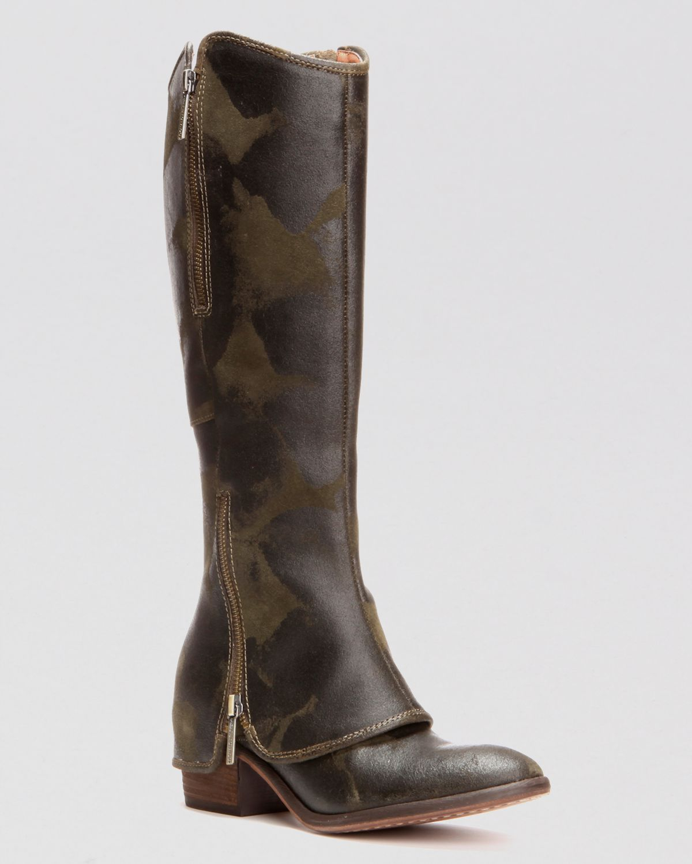 cc6ac8e74d6 Donald J Pliner Tall Flat Pant Boots - Devi3 in Green - Lyst