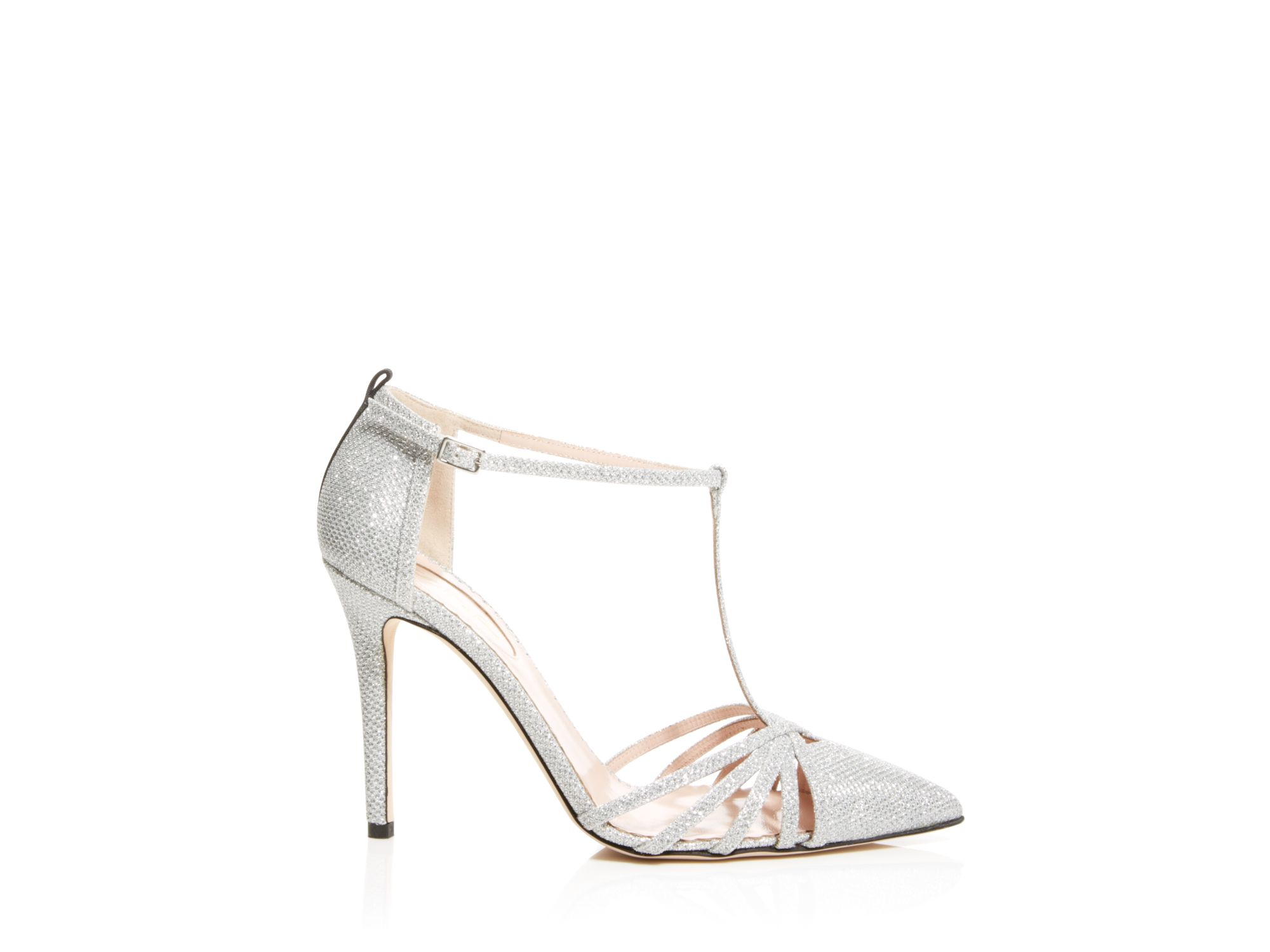 265da51a8bf Lyst - SJP by Sarah Jessica Parker Carrie Glitter Cage T-strap Pumps ...