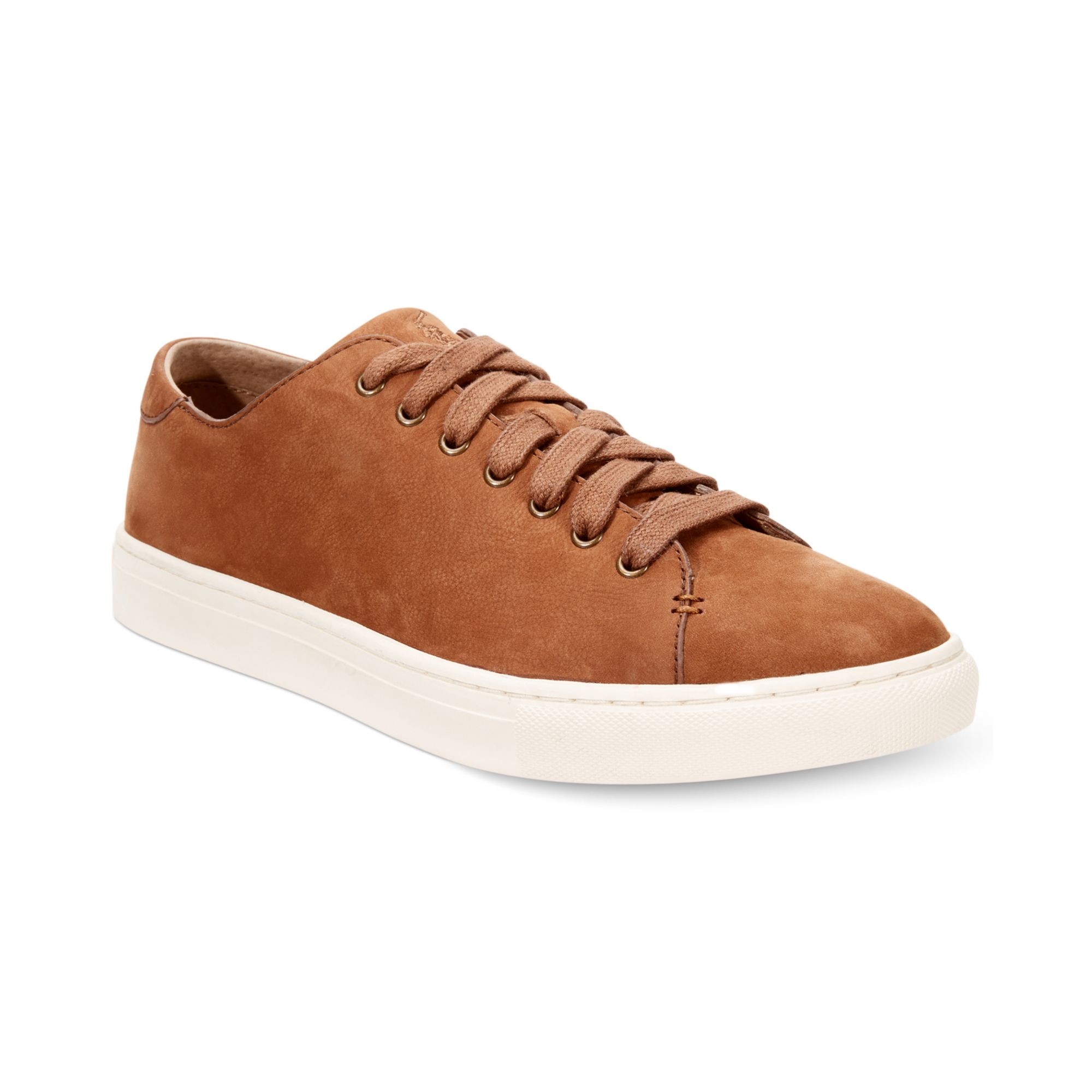 ralph lauren polo jermain suede sneakers in brown for men lyst. Black Bedroom Furniture Sets. Home Design Ideas