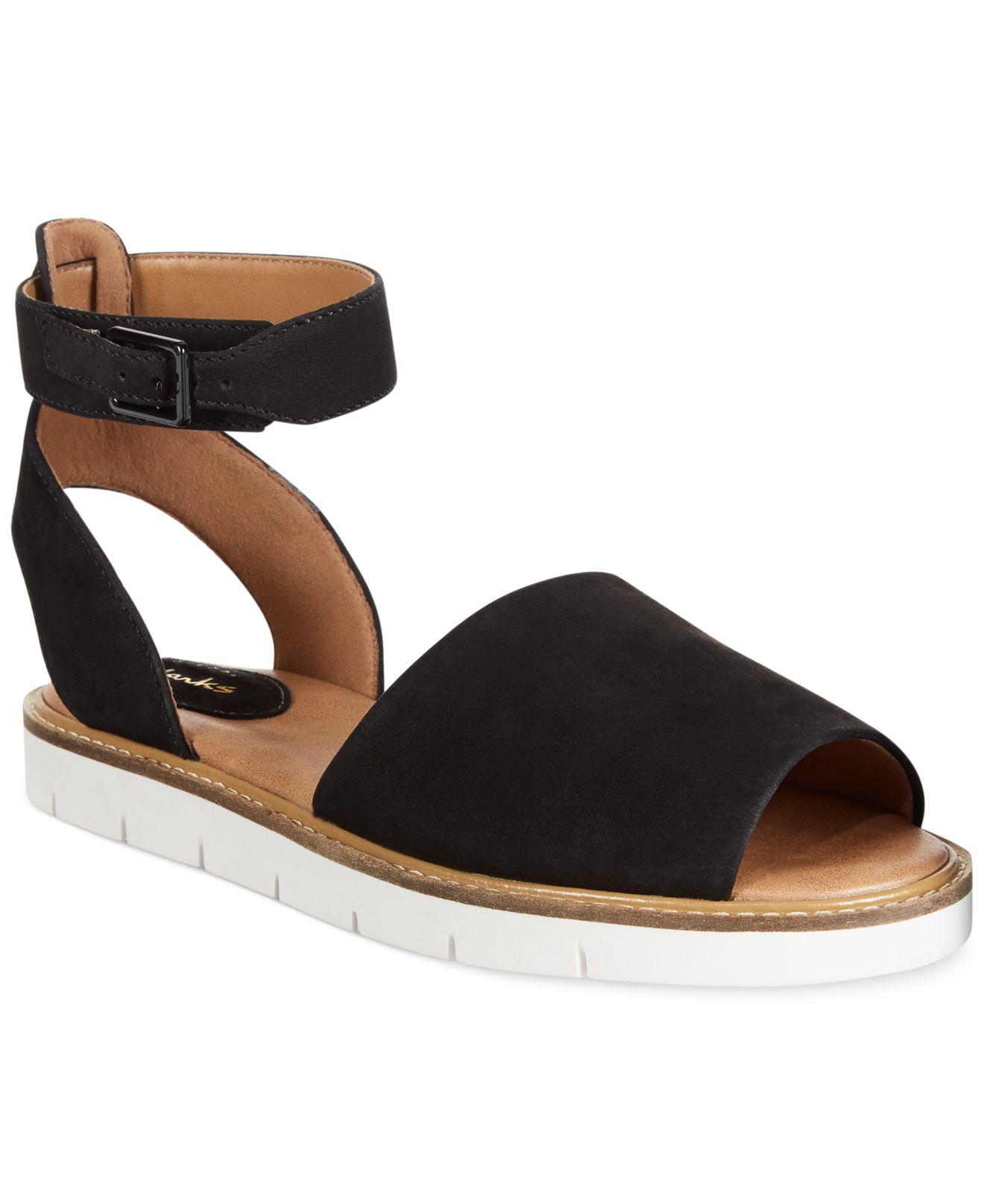 64709f20ae42 Lyst - Clarks Artisan Women s Lydie Hala Flat Sandals in Black