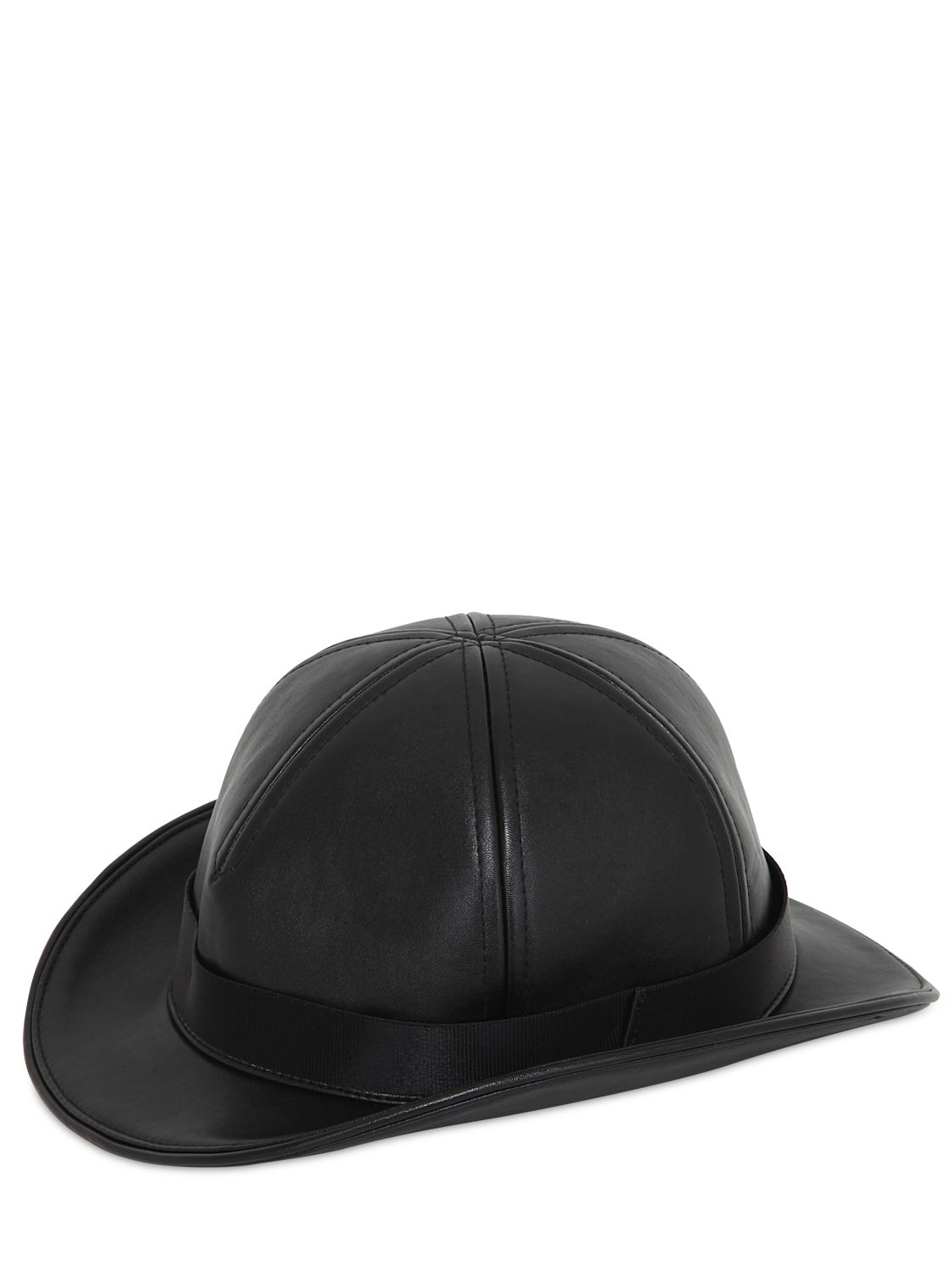 81f05d6a8f2c5e KTZ Faux Leather Bowler Hat in Black for Men - Lyst