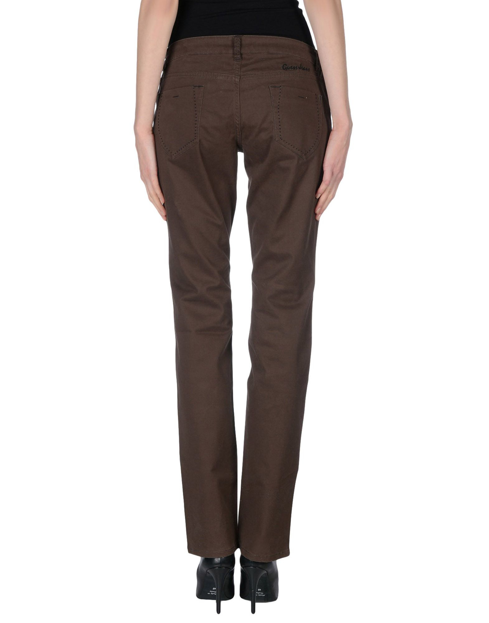 Excellent St John Women39s Dark Brown Leather Pants And Brown Suede Pants  EBTH