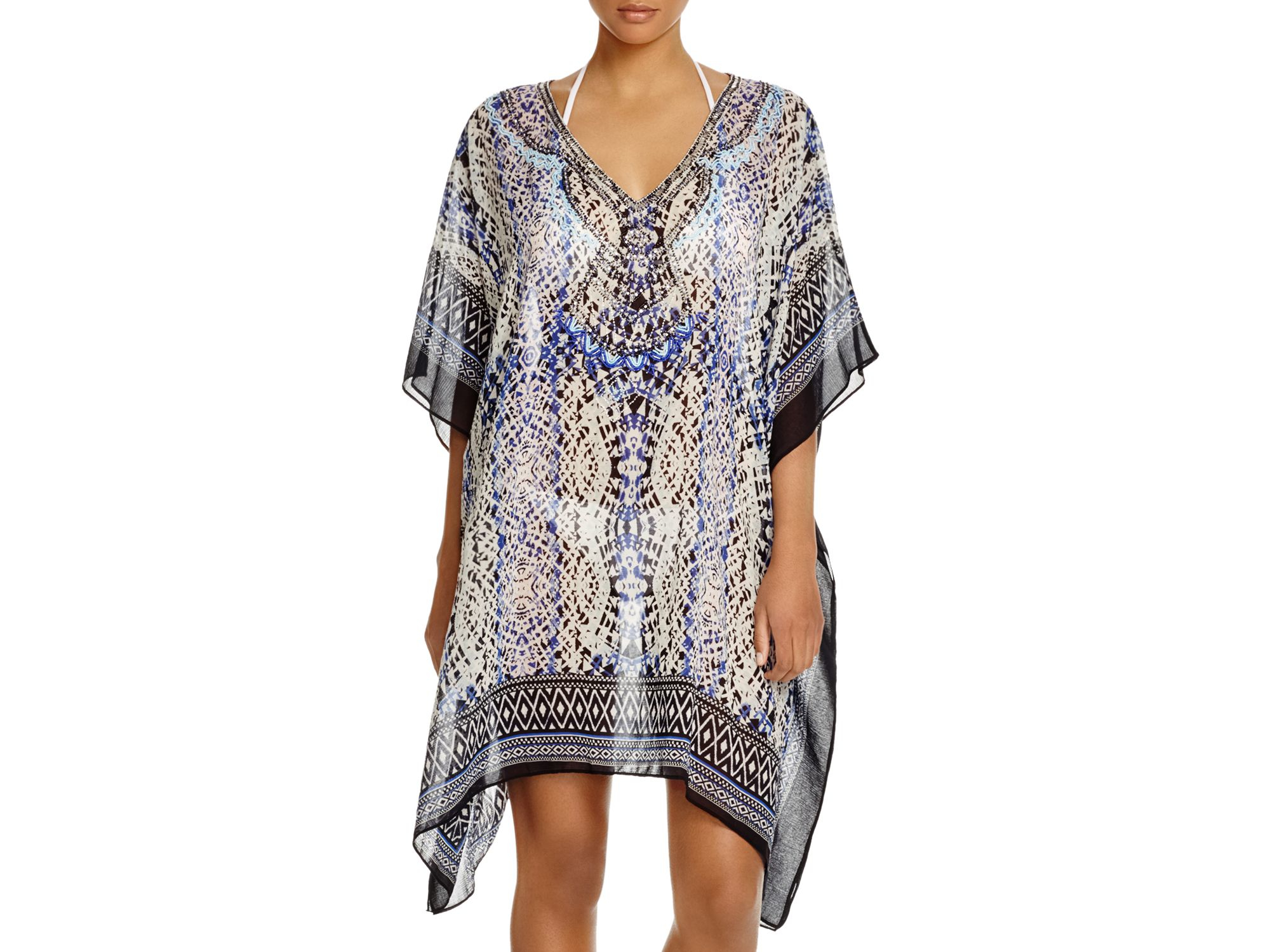 aa9f011aec Parker Beach Playa Tunic Swim Cover Up in Blue - Lyst