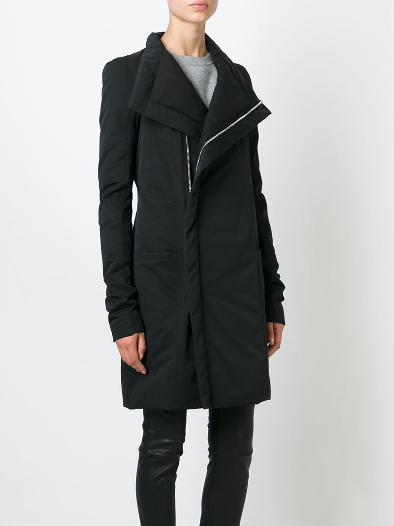 Rick owens Feather Down Coat in Black | Lyst