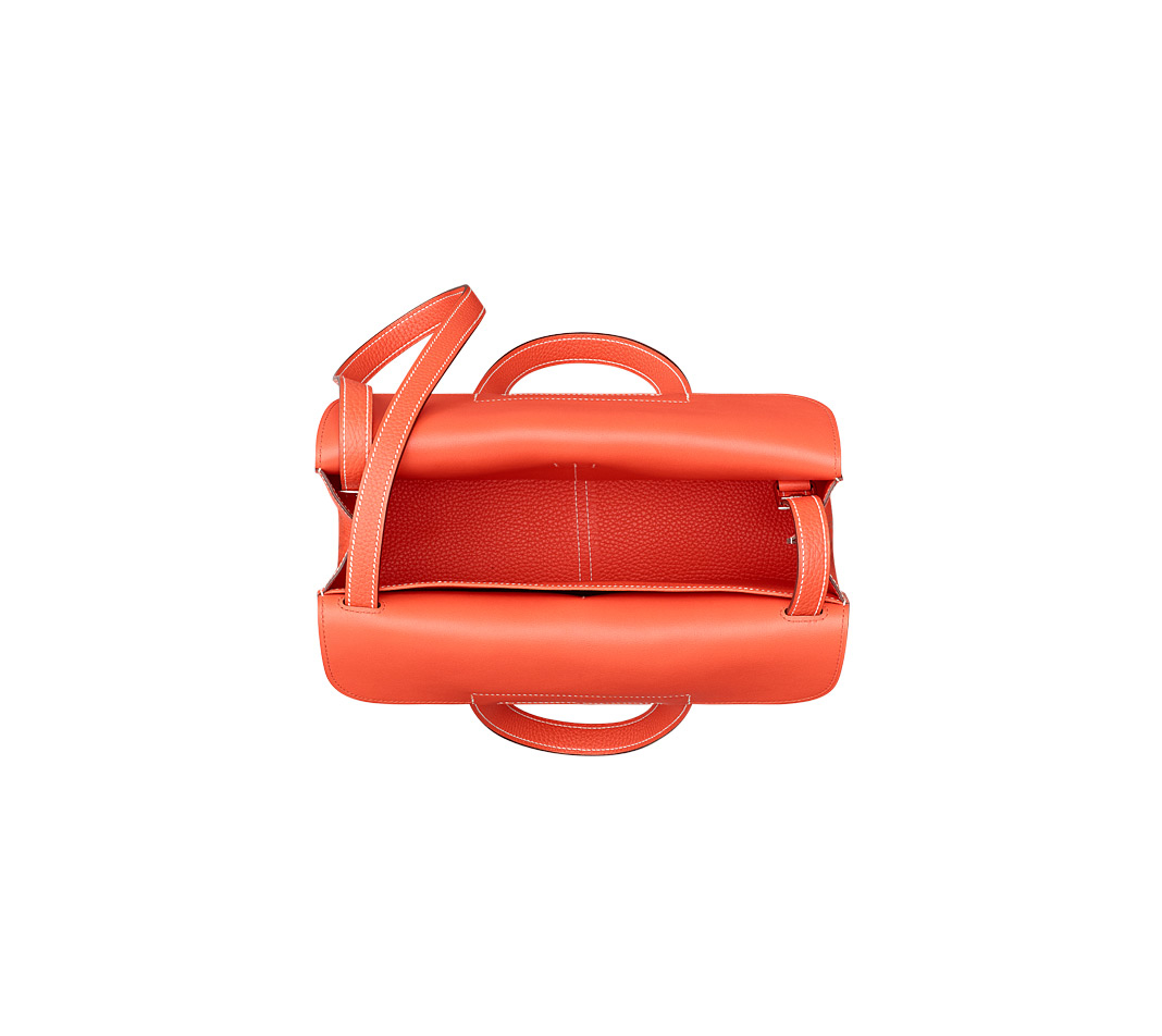 Herm 232 S Halzan Mini In Red Poppy Orange Orange Lyst