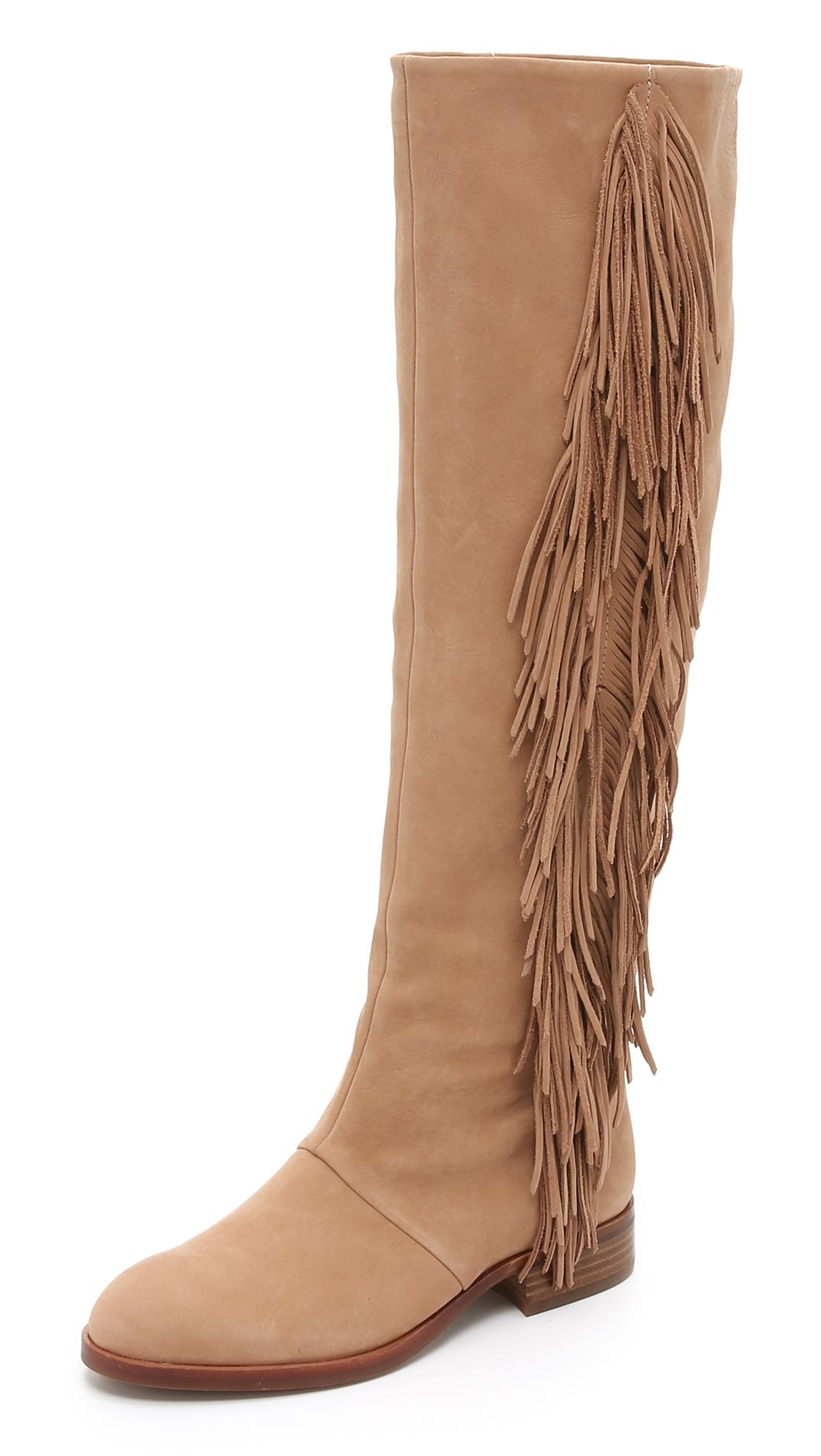 8713fce38dd29 Lyst - Sam Edelman Josephine Fringe Boots in Brown