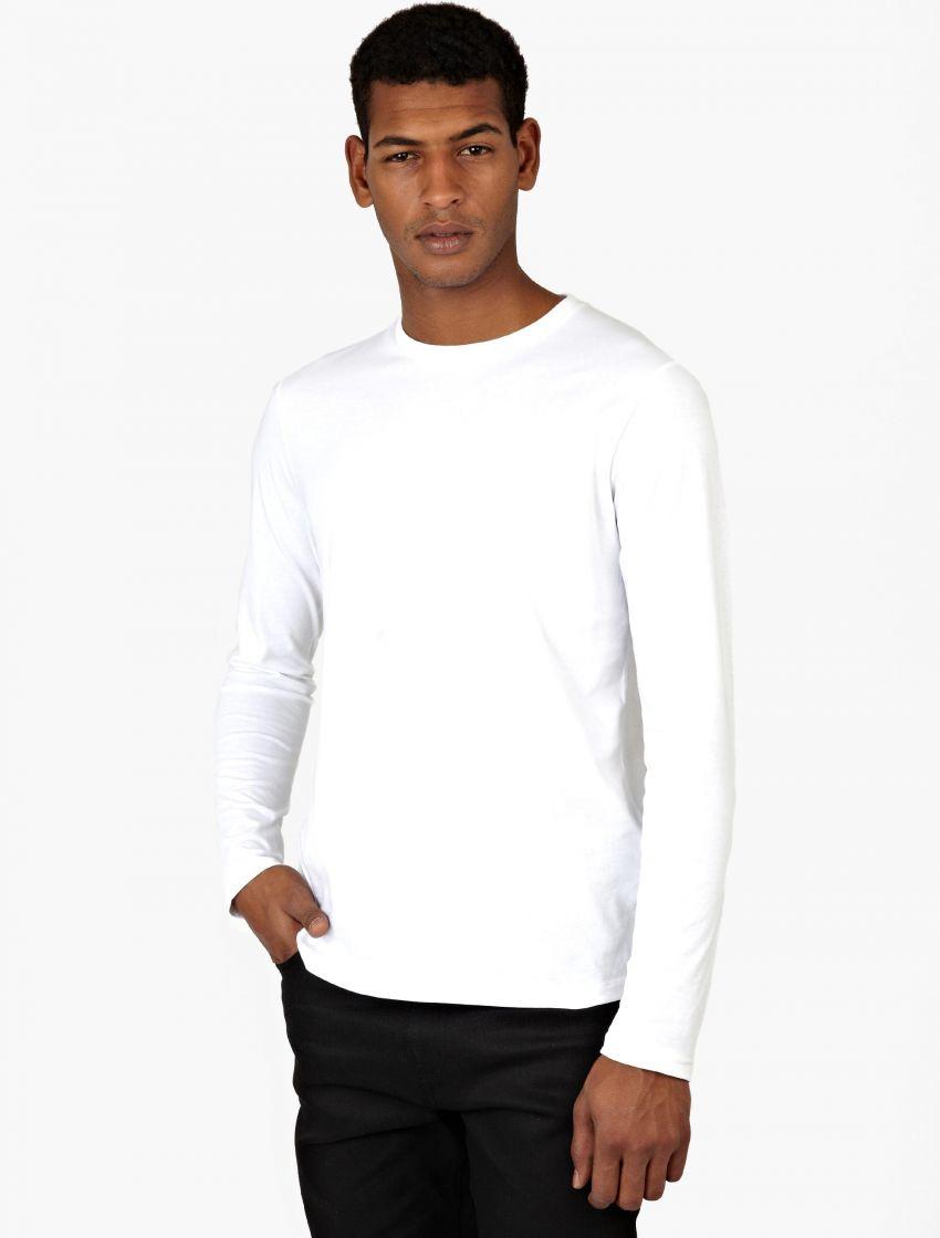 Jil sander long sleeve t shirt in white for men lyst for Jil sander mens shirt
