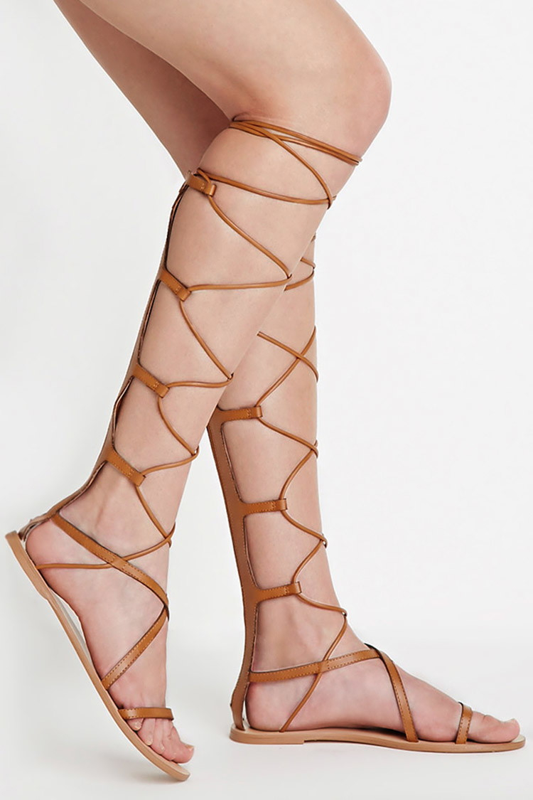 9e8f1dc8a Lyst - Forever 21 Faux Leather Gladiator Sandals in Brown