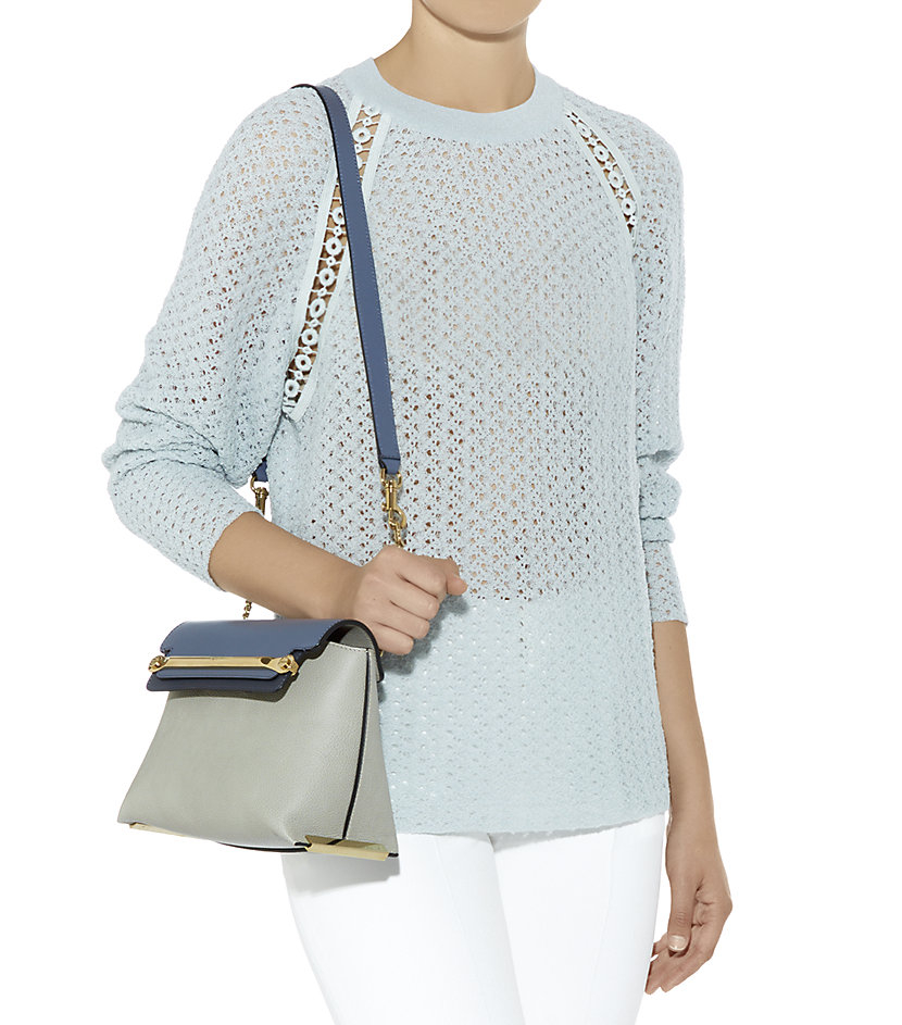 chleo bag - Chlo�� Small Clare Shoulder Bag in Blue (grey) | Lyst