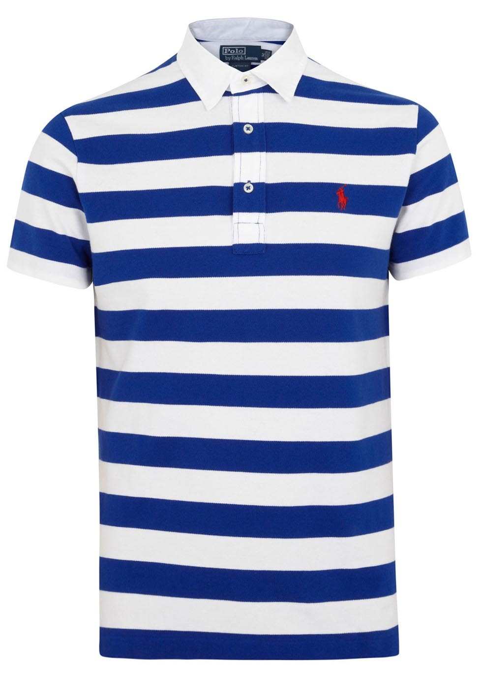b99bf1092fe37 ... best price polo ralph lauren blue and white striped piqué cotton polo  shirt in 1d257 90064