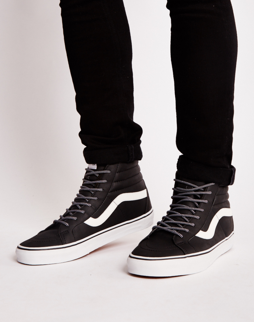 vans sk8 hi reissue all black