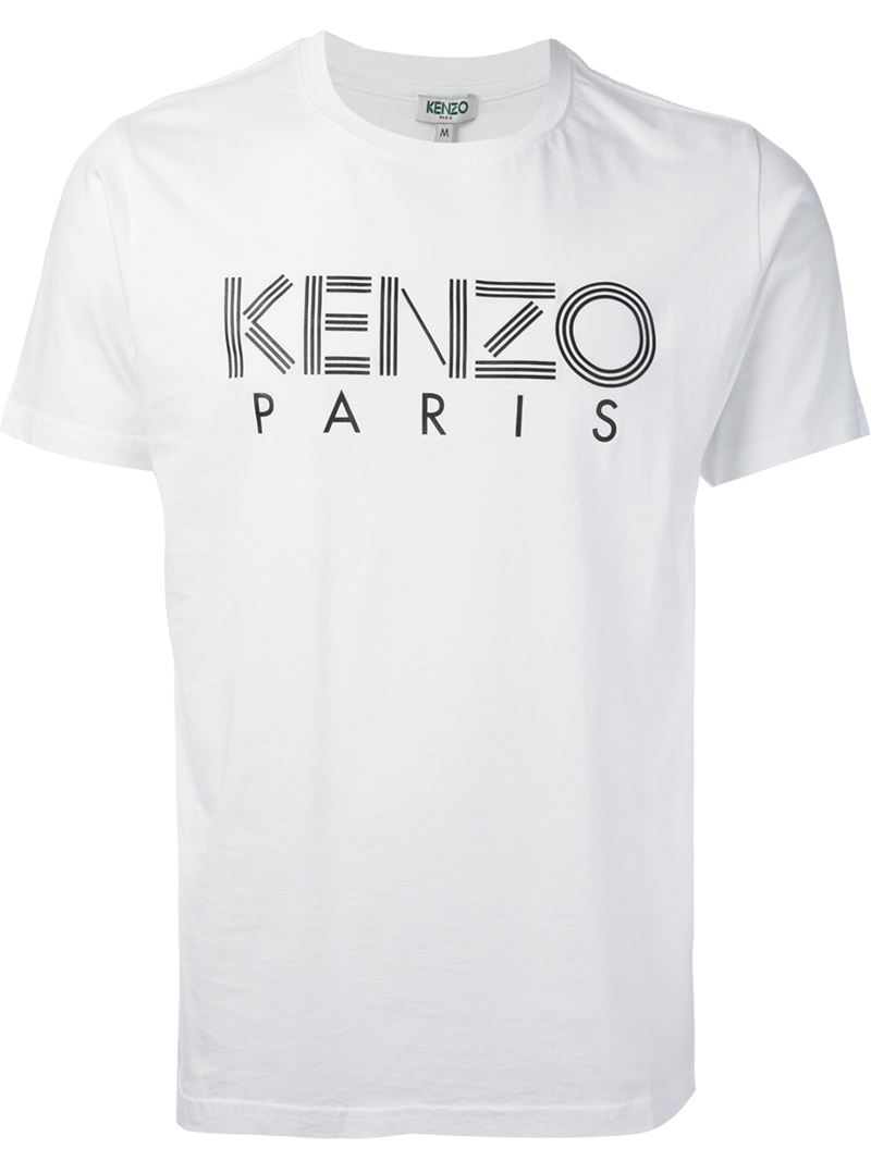 kenzo 39 paris 39 t shirt in white for men lyst. Black Bedroom Furniture Sets. Home Design Ideas