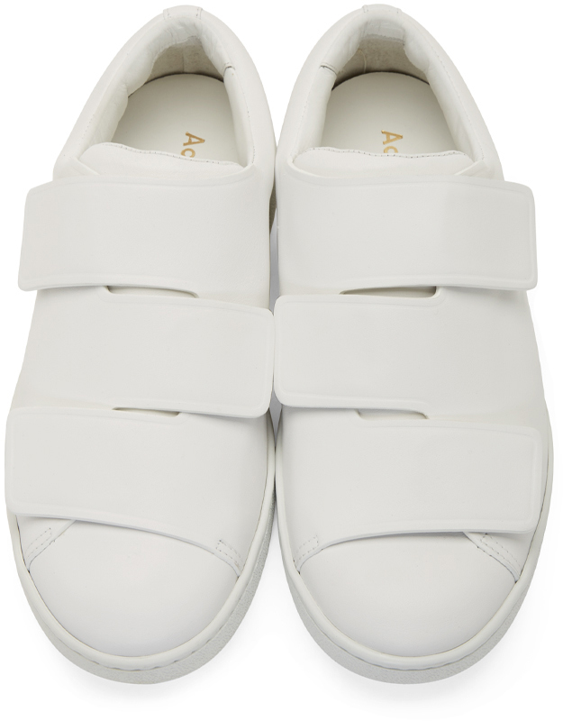 Lyst Acne Studios White Leather Triple Velcro Sneakers
