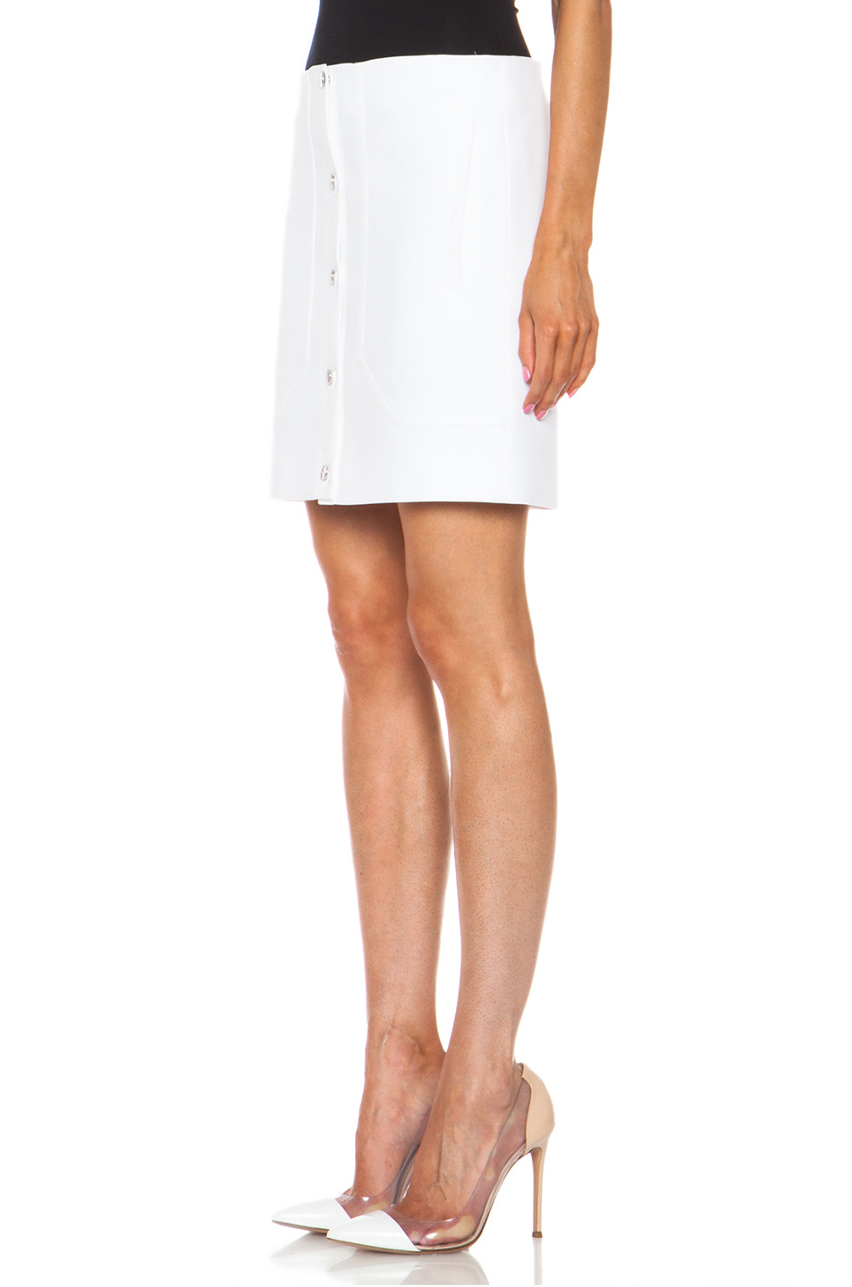 Lyst - Carven Short Button Front Skirt in White