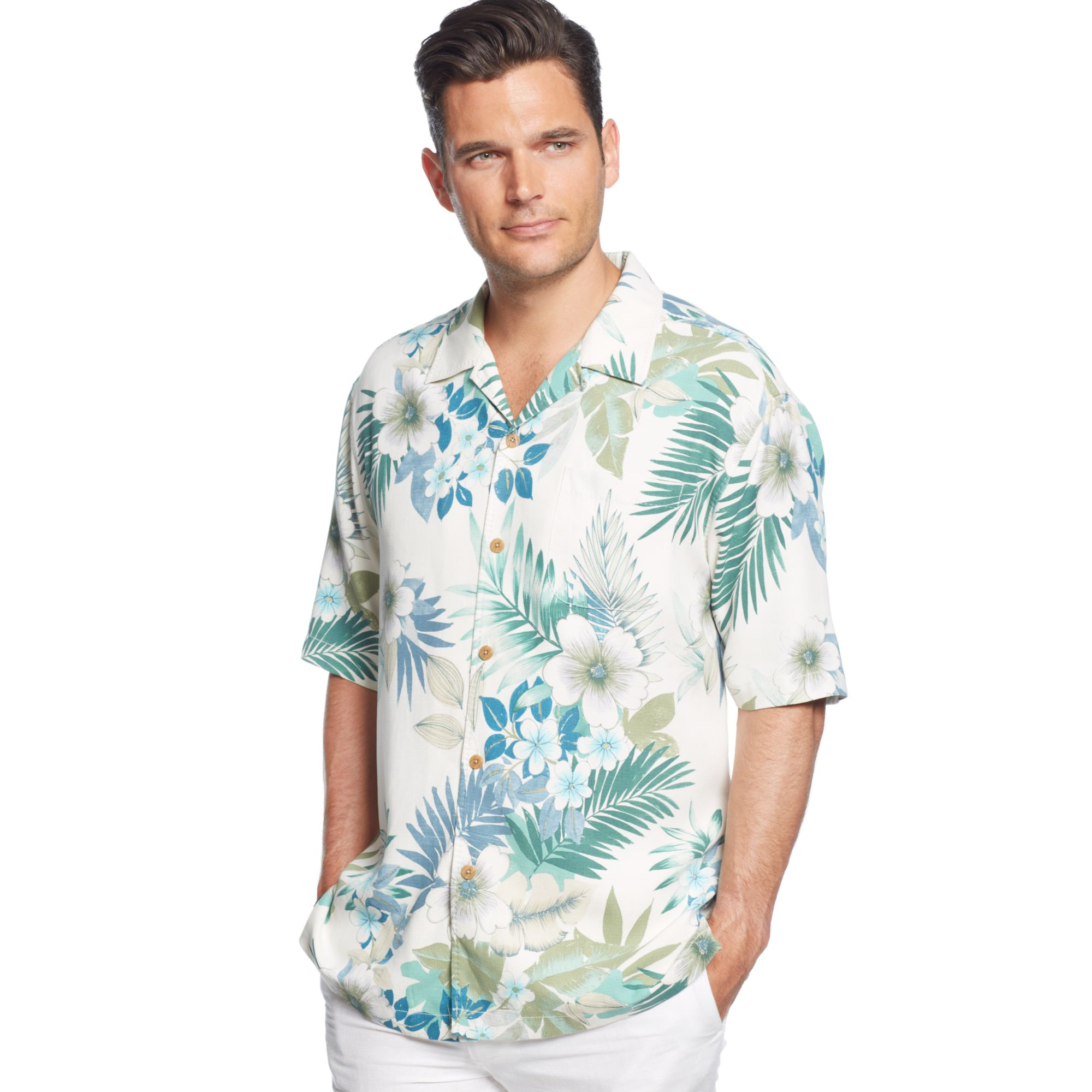 Tommy bahama gigantic floral silk shirt for men lyst for Tommy bahama christmas shirt 2014