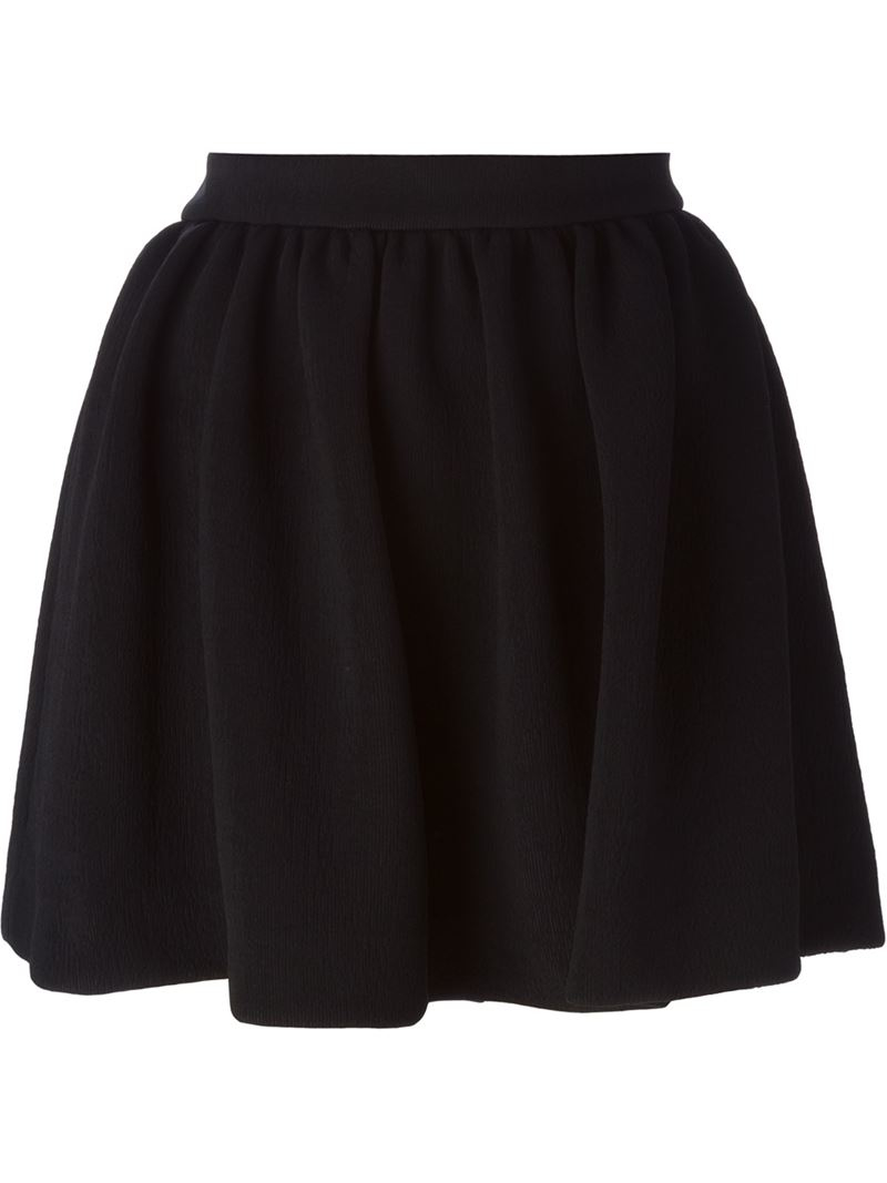 mcq mcqueen high waisted pleated skirt in black