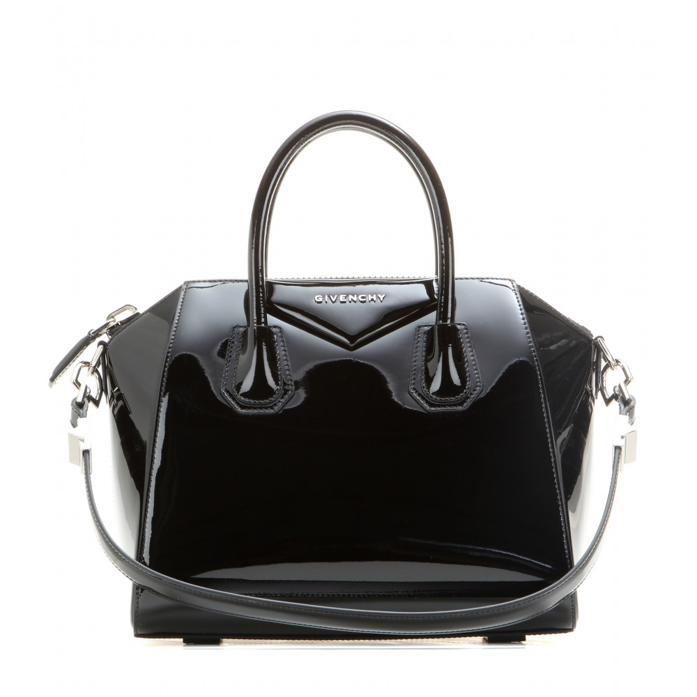 givenchy antigona small patent leather tote in black lyst. Black Bedroom Furniture Sets. Home Design Ideas