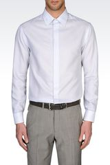 Armani Modern Fit Micro Woven Cotton Shirt