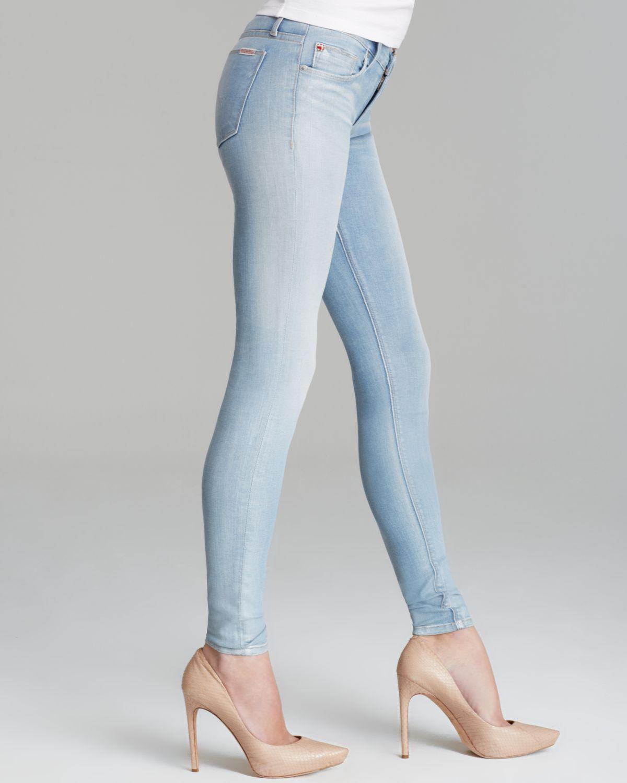 Hudson jeans Jeans Krista Super Skinny in Light My Fire in Blue | Lyst