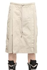 Rick Owens Low Crotch Cotton Canvas Panel Shorts - Lyst
