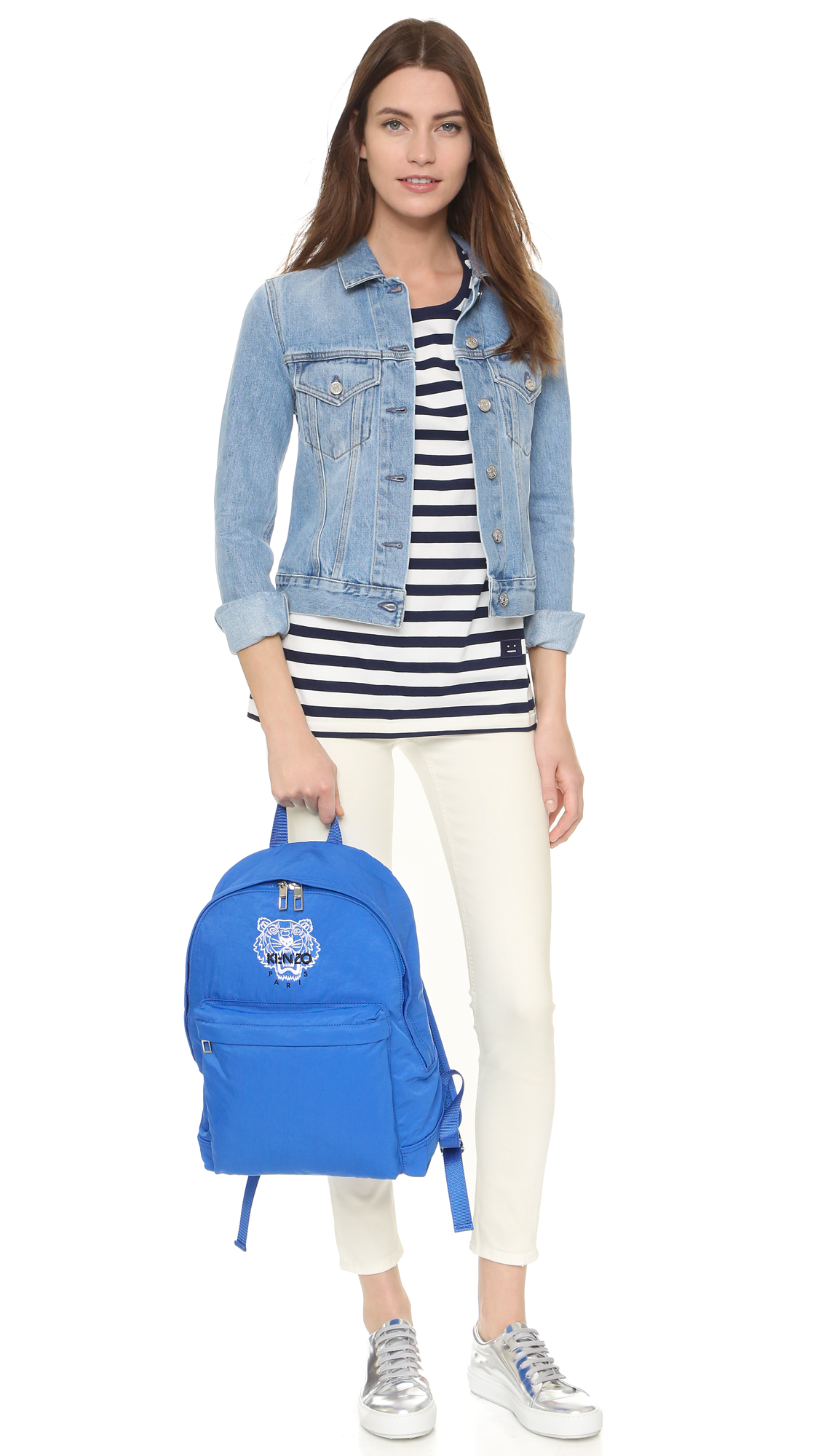 3dcc238d KENZO Tiger Backpack in Blue - Lyst