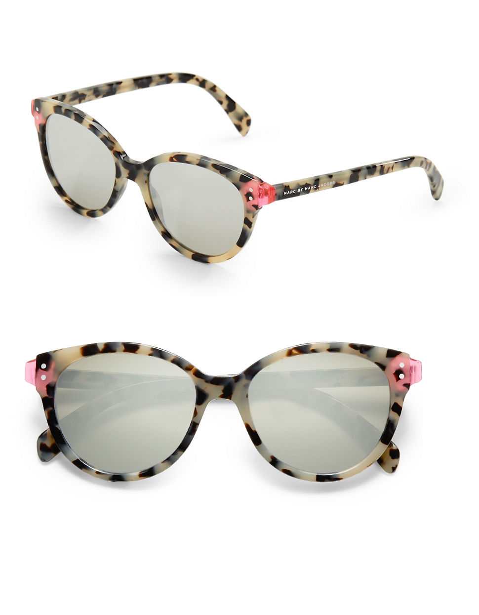 Marc By Marc Jacobs Cat Eye Sunglasses  marc by marc jacobs flash cat eye sunglasses 51mm in gray lyst