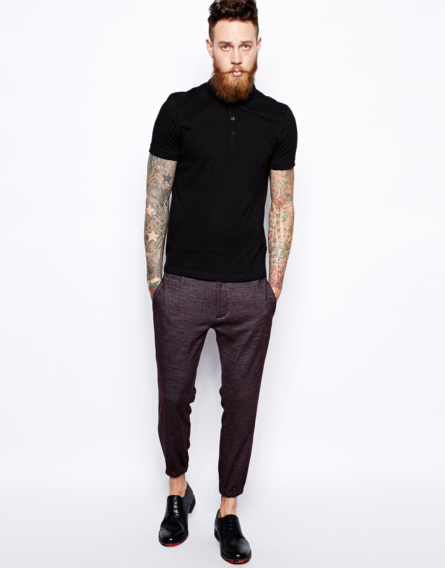 Asos Skinny Fit Smart Joggers In Red For Men Lyst