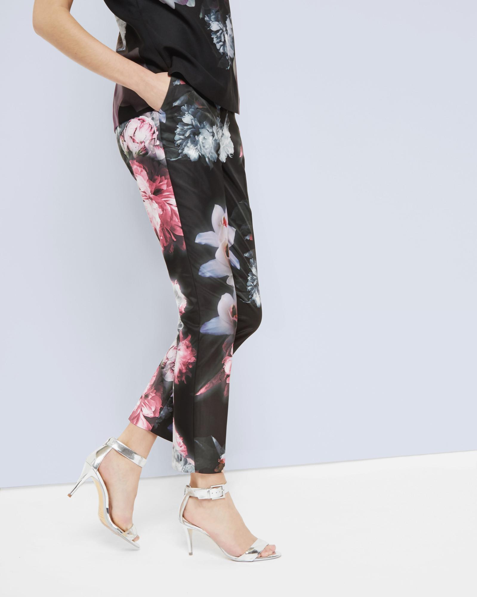 872361fcb Lyst - Ted Baker Ethereal Posie Trousers in Black