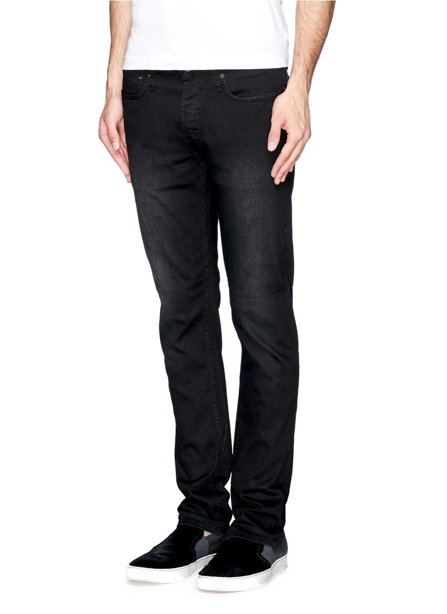 65ac0482 Denham Bolt Skinny-fit Jeans in Black for Men - Lyst