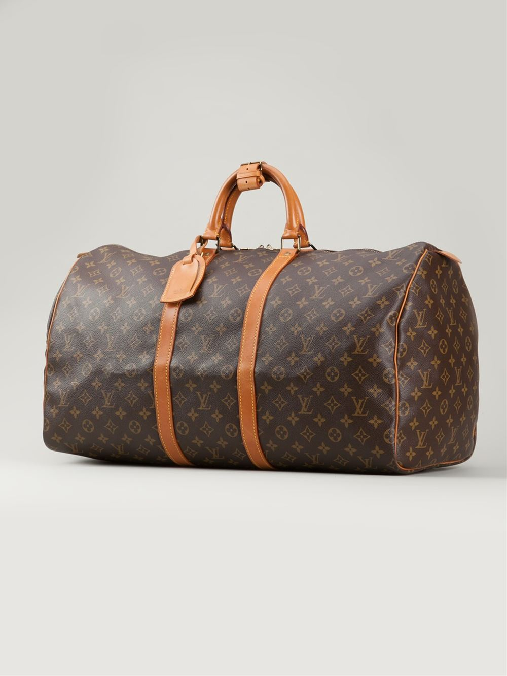 Louis vuitton 39 keepall 55 39 travel bag in brown lyst for Louis vuitton miroir bags